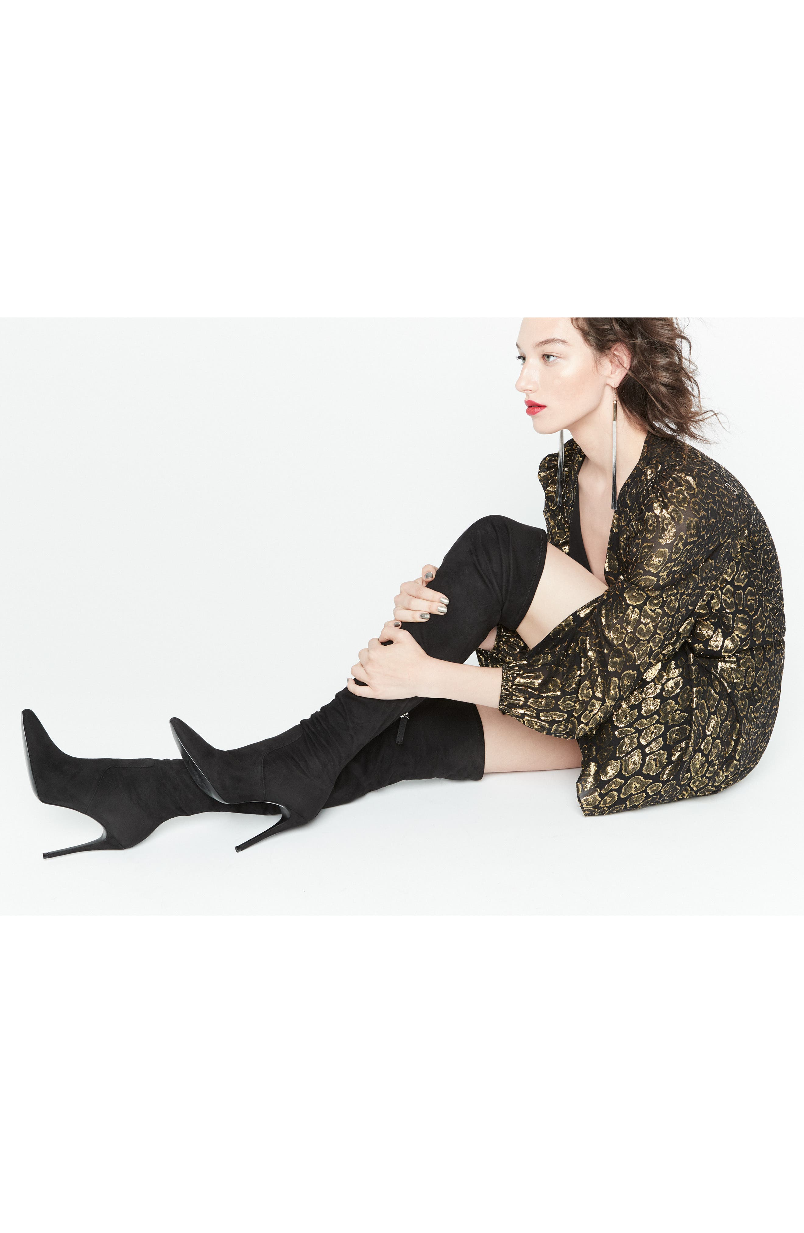 Devine Over the Knee Boot,                             Alternate thumbnail 7, color,                             GREY SUEDE