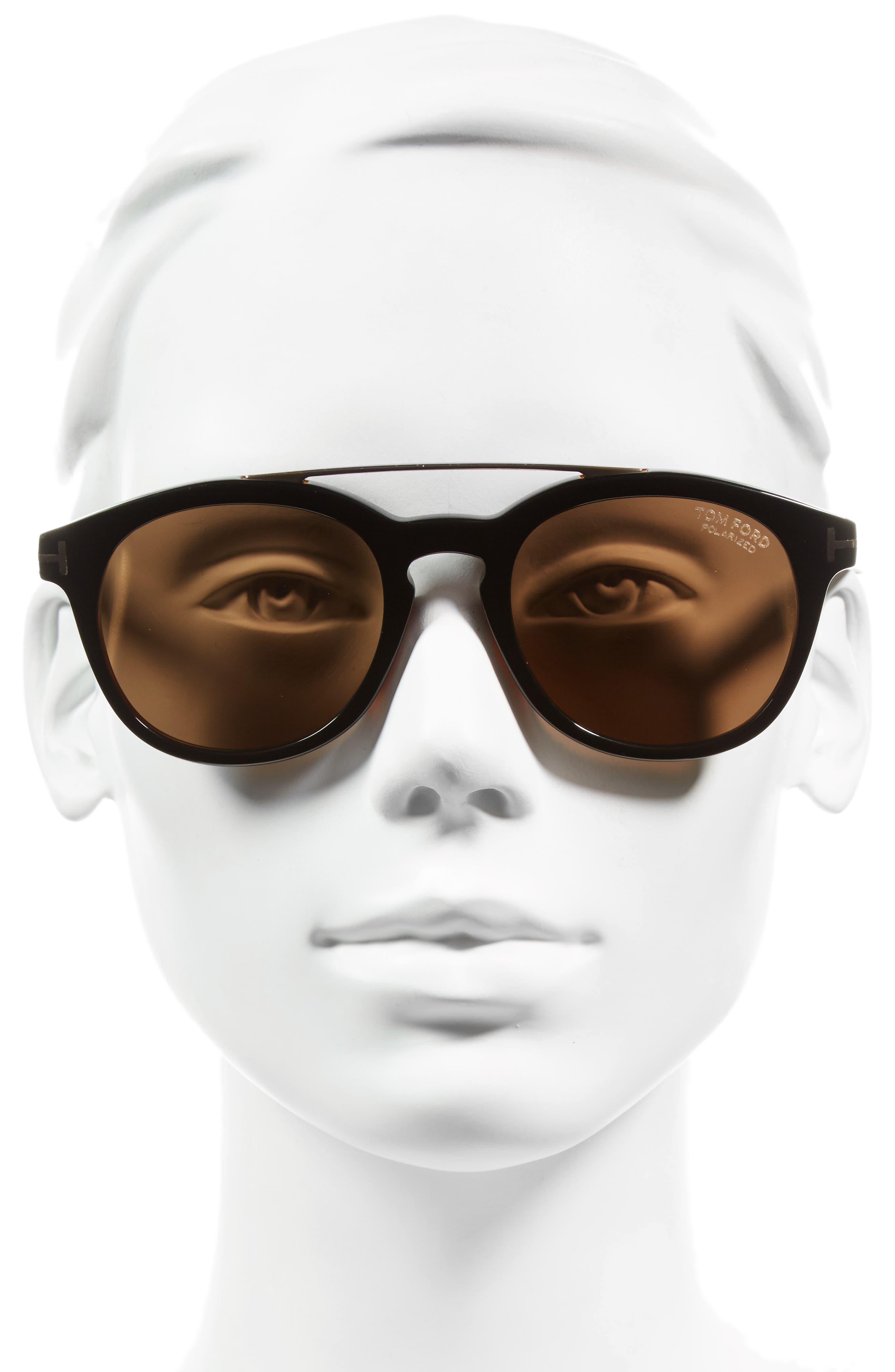Newman 53mm Polarized Sunglasses,                             Alternate thumbnail 2, color,                             001
