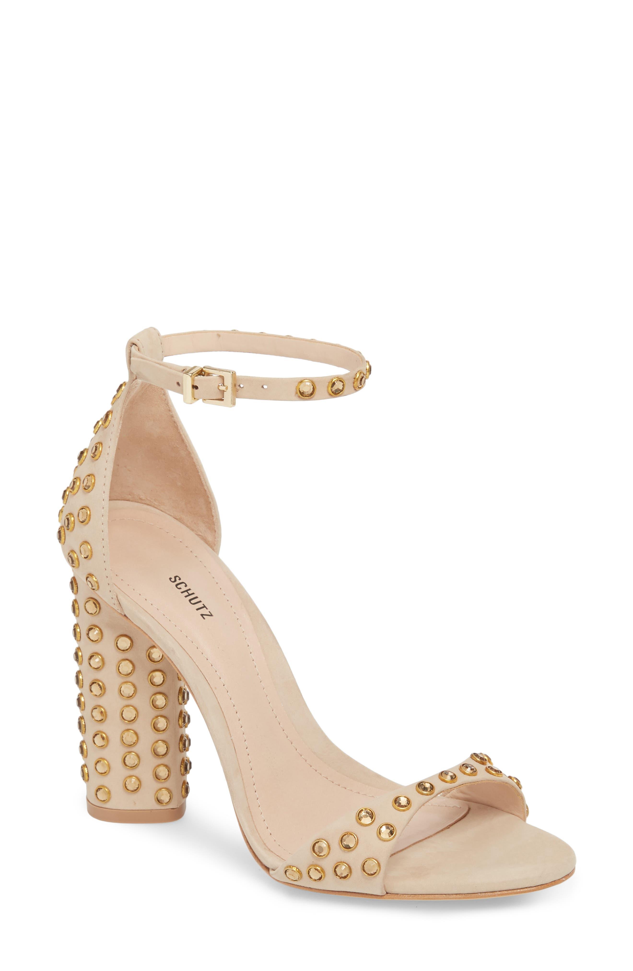 SCHUTZ Marcelle Ankle Strap Sandal, Main, color, 015