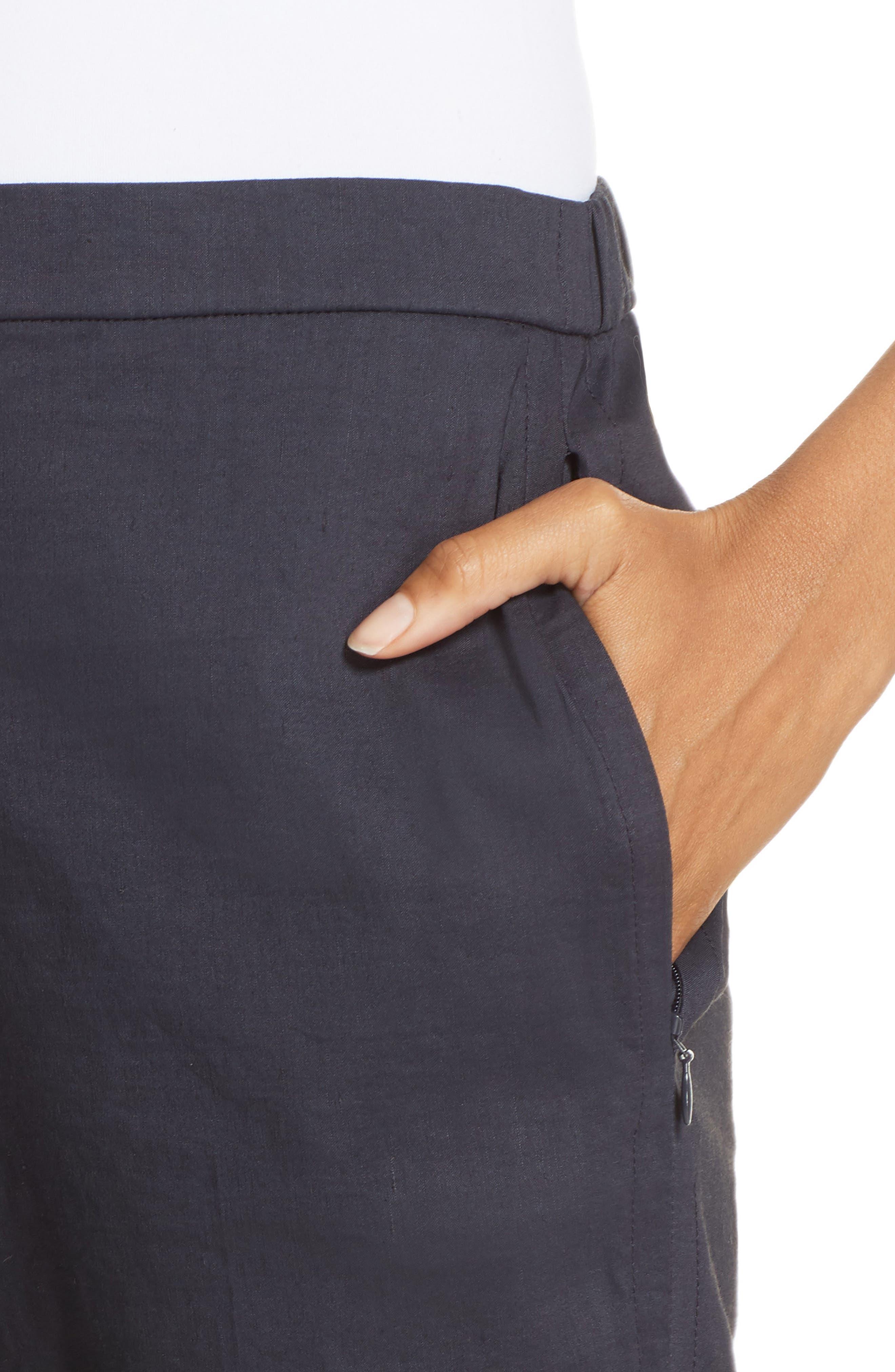 Pull-On Linen Blend Pants,                             Alternate thumbnail 12, color,