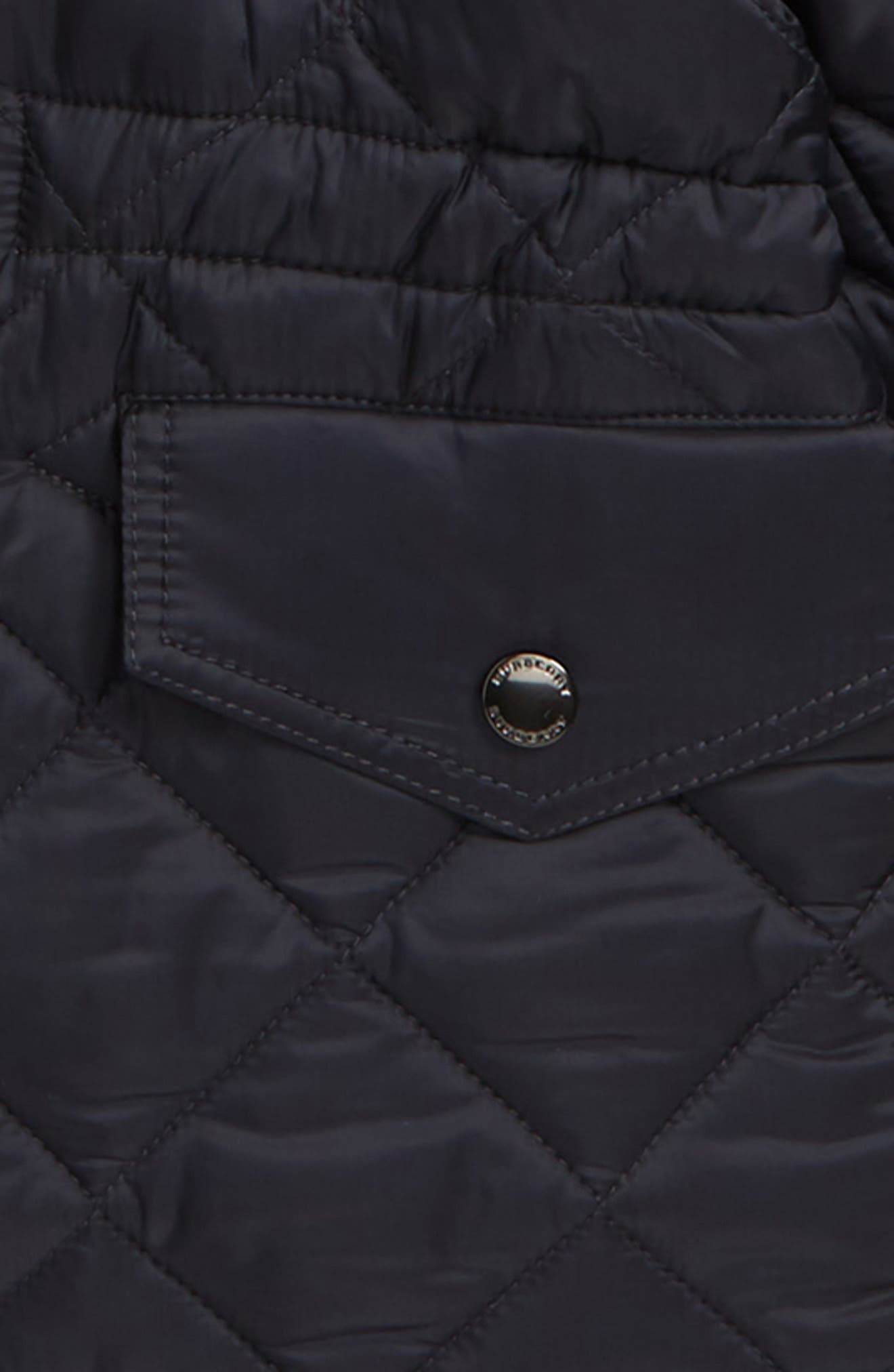Tyler Quilted Hooded Jacket,                             Alternate thumbnail 2, color,                             NAVY