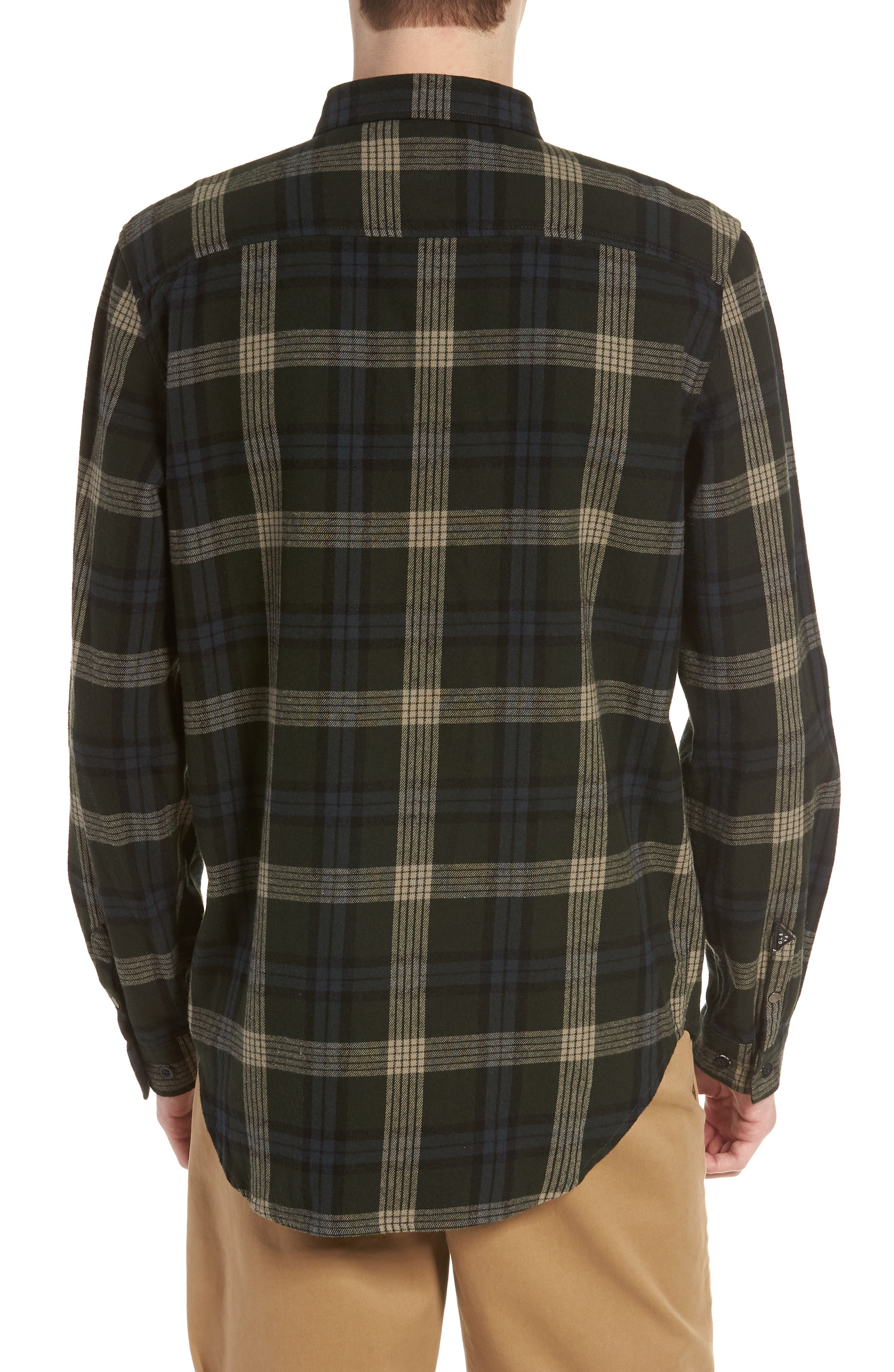 Flanigan Woven Shirt,                             Alternate thumbnail 2, color,                             SHADOW