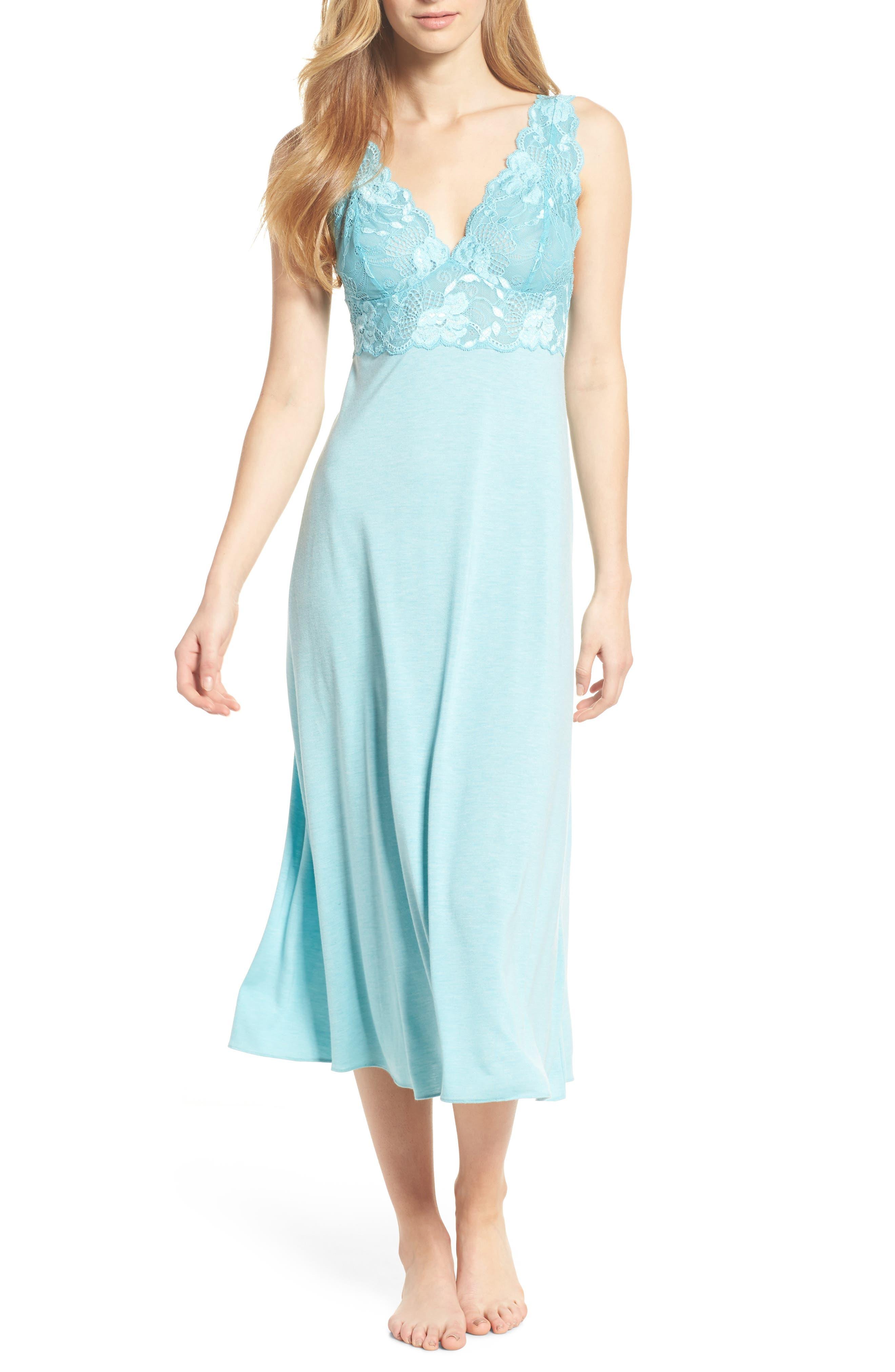'Zen Floral' Nightgown,                             Main thumbnail 1, color,                             420