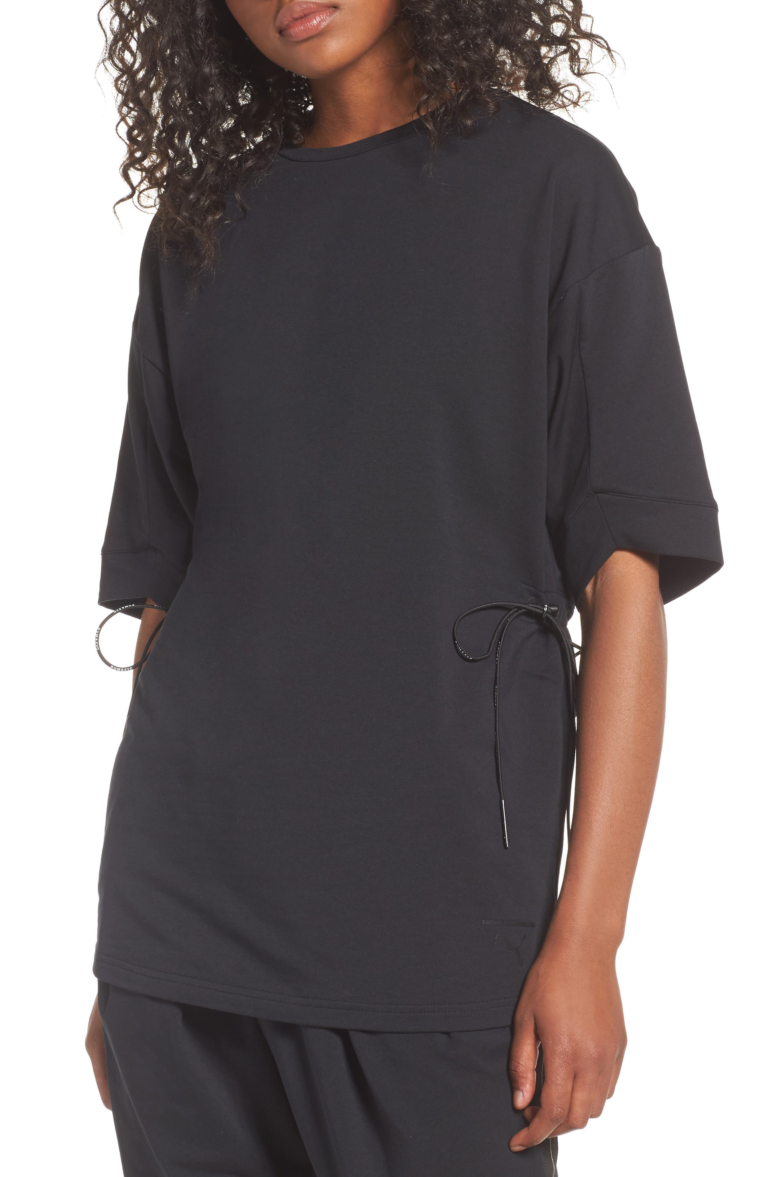 Drawcord Tee,                         Main,                         color, 001