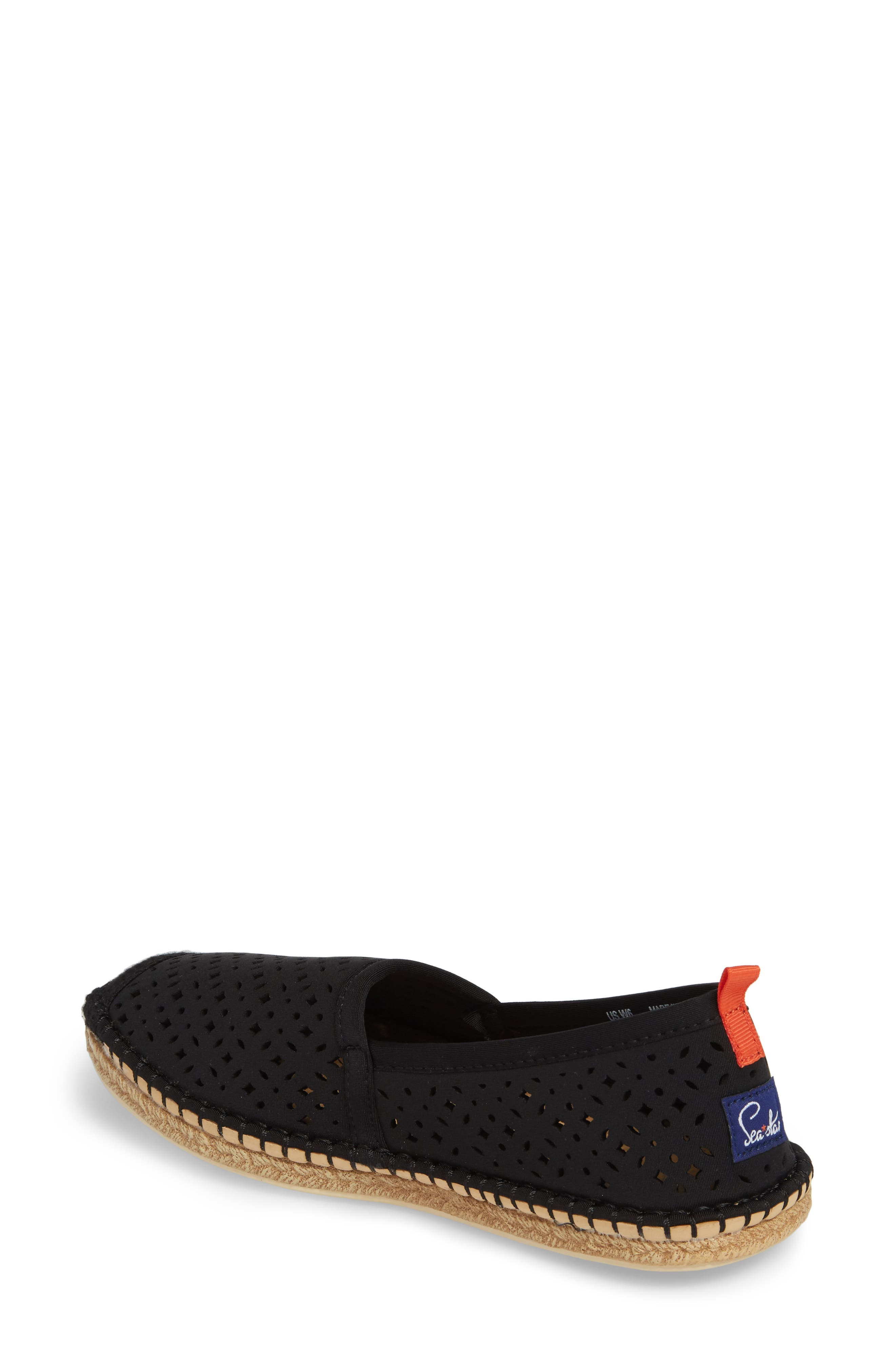 Sea Star Beachcomber Espadrille Sandal,                             Alternate thumbnail 2, color,                             BLACK EYELET