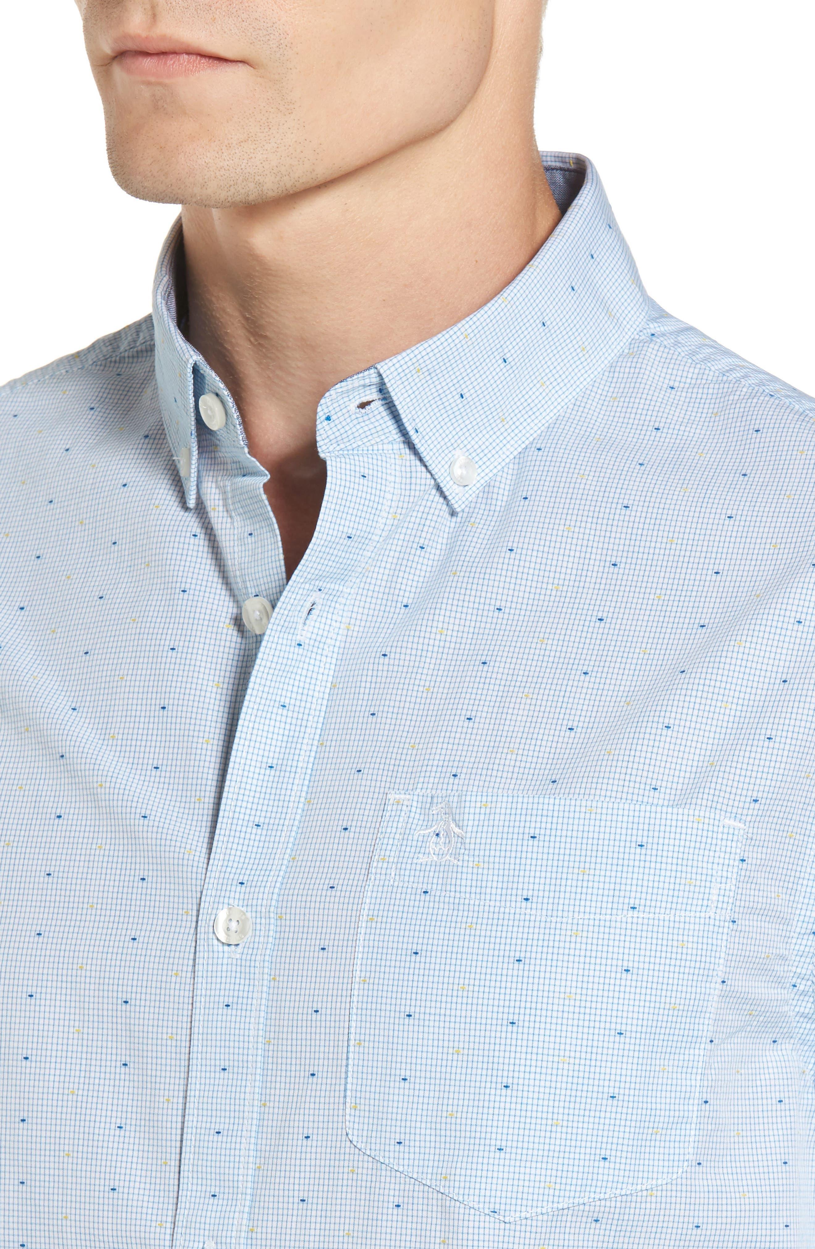 Clipped Dobby Woven Shirt,                             Alternate thumbnail 4, color,                             118