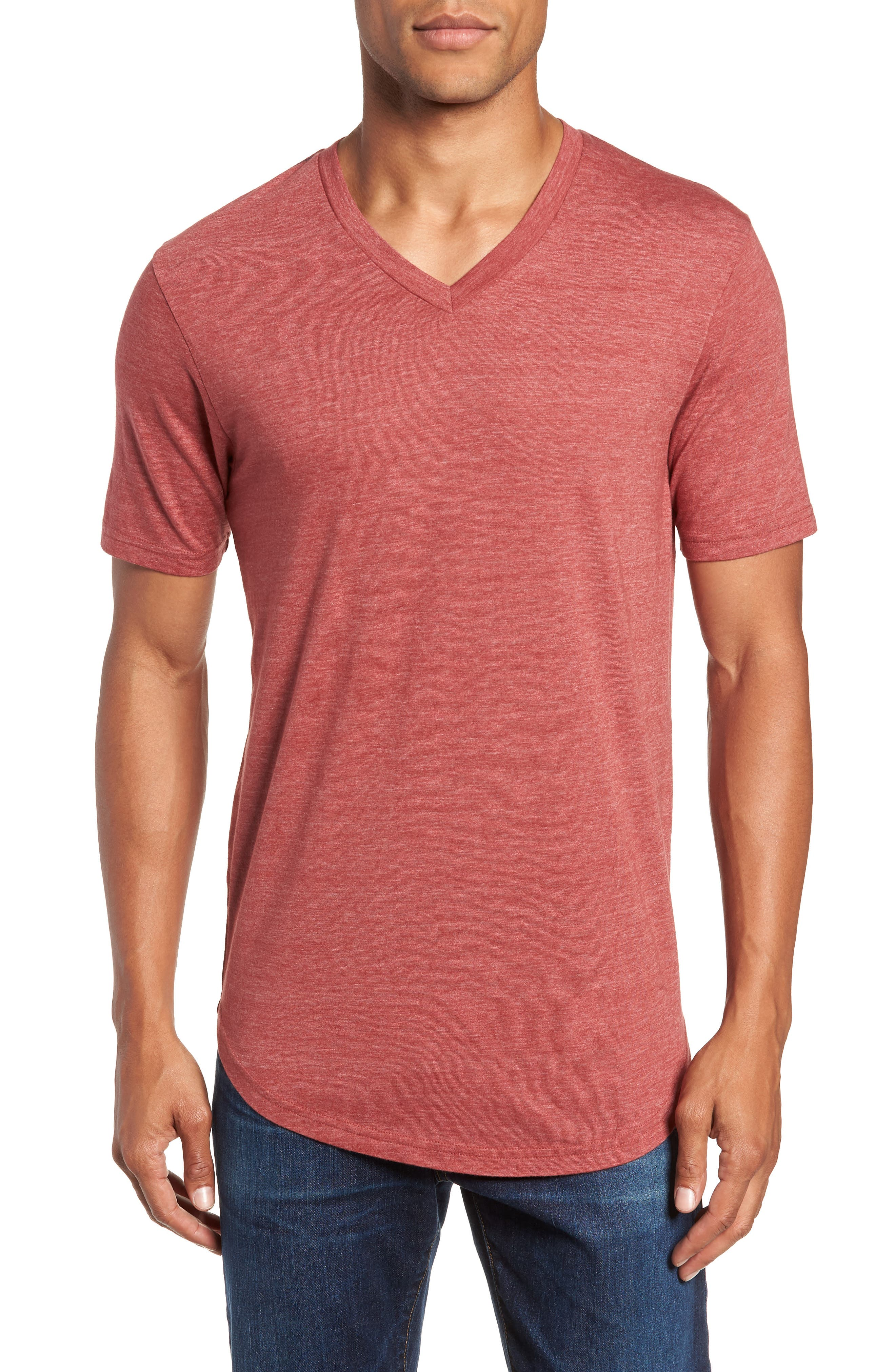 Scallop Triblend V-Neck T-Shirt,                             Main thumbnail 13, color,
