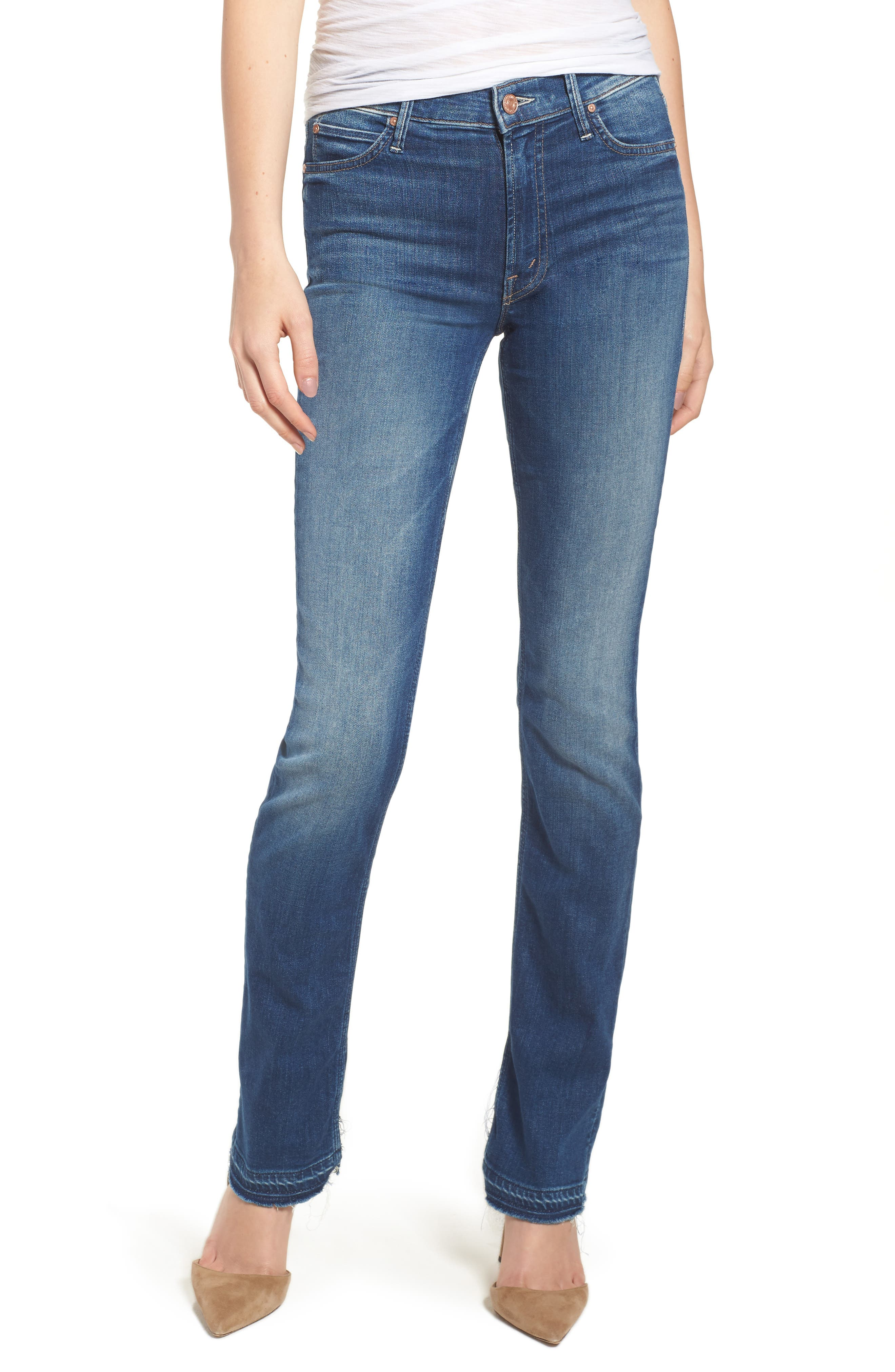 The Rascal Released Hem Straight Leg Jeans,                             Main thumbnail 1, color,                             400