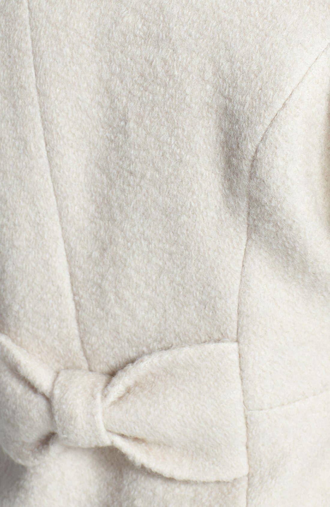 GUESS,                             Envelope Collar Double Breasted Bouclé Coat,                             Alternate thumbnail 3, color,                             667
