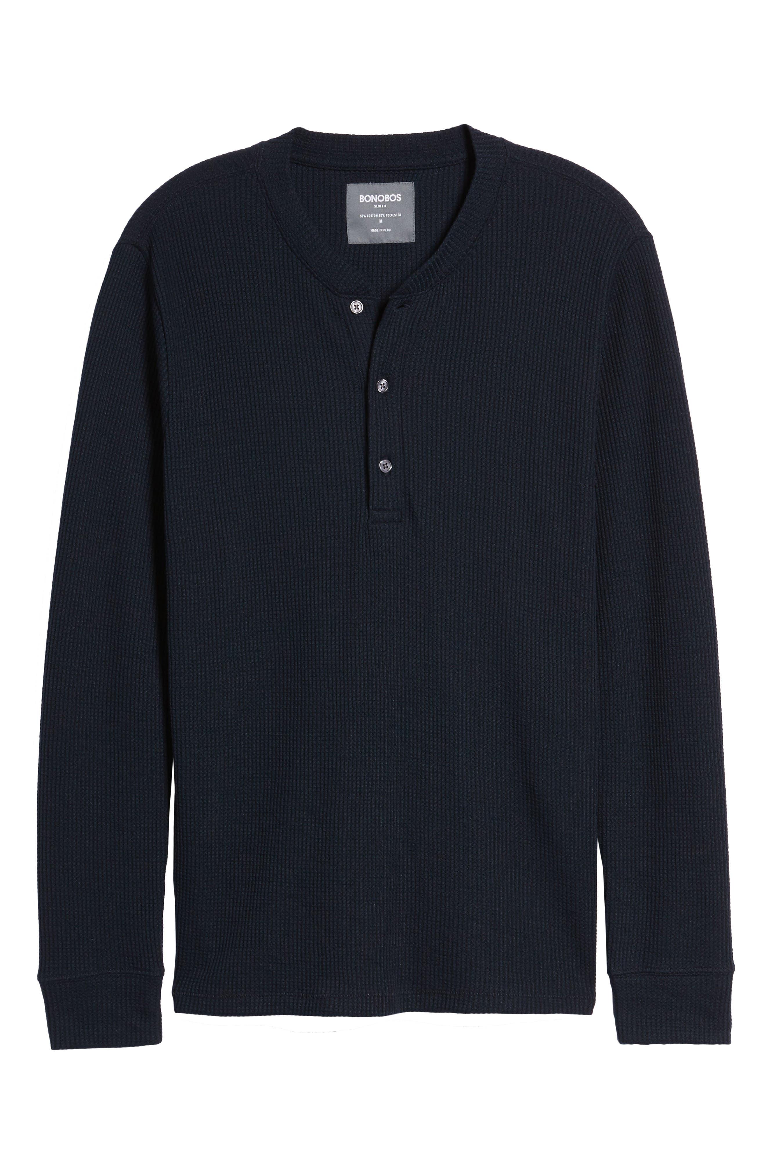 Slim Fit Long Sleeve Henley Shirt,                             Alternate thumbnail 17, color,