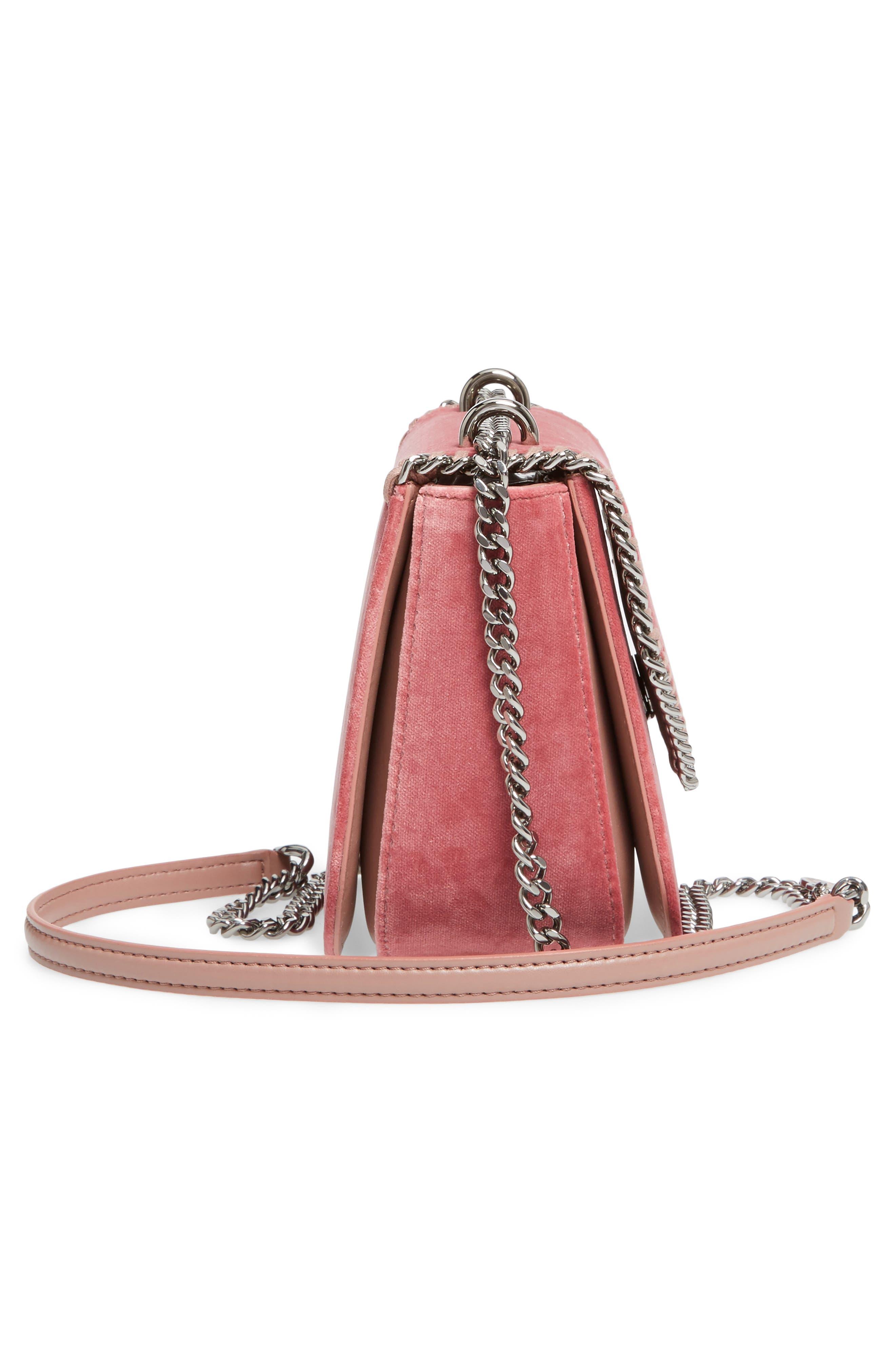 Mini Falabella Box Velvet Shoulder Bag,                             Alternate thumbnail 5, color,                             640