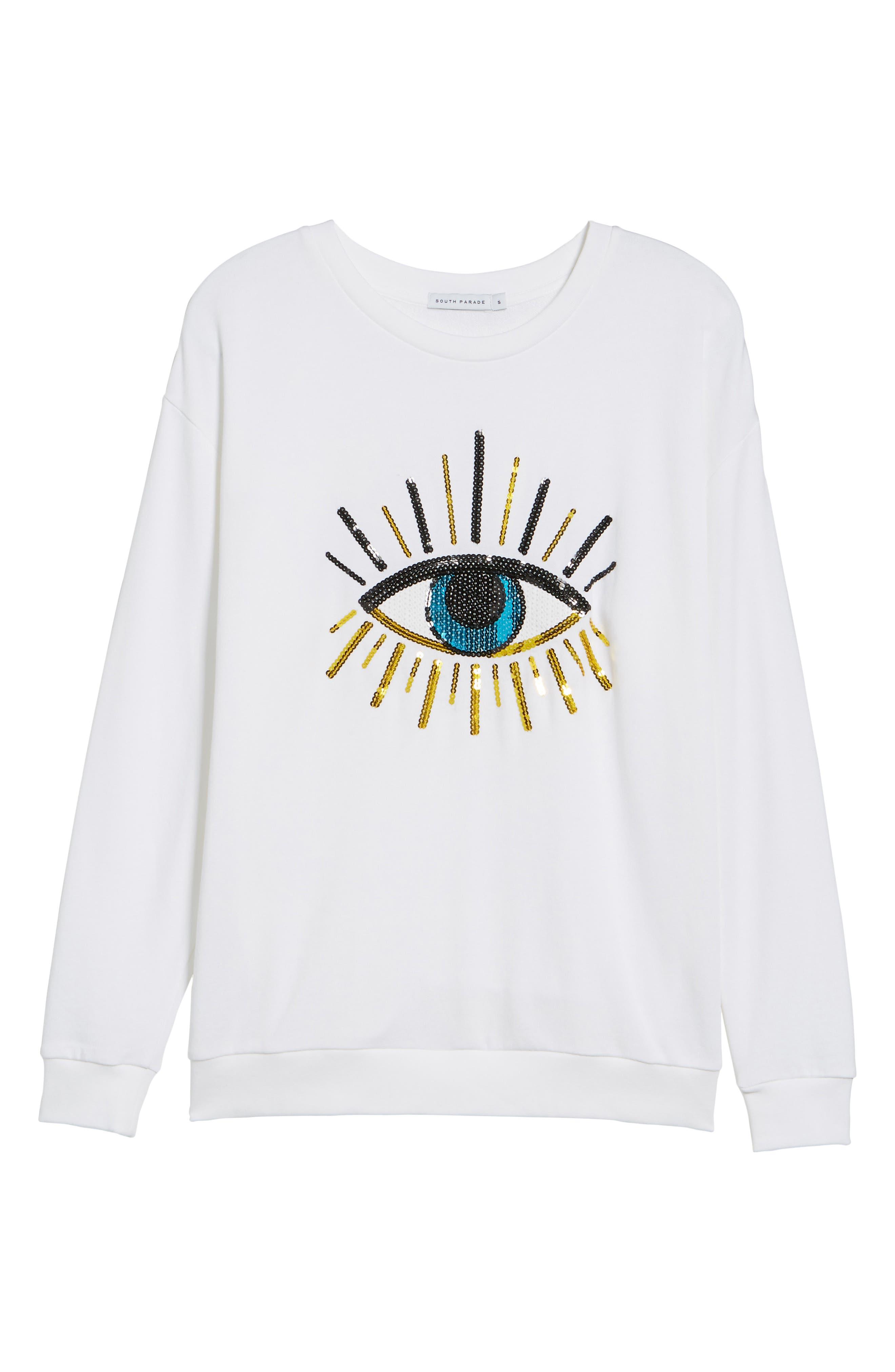 Alexa - Evil Eye Sweatshirt,                             Alternate thumbnail 11, color,