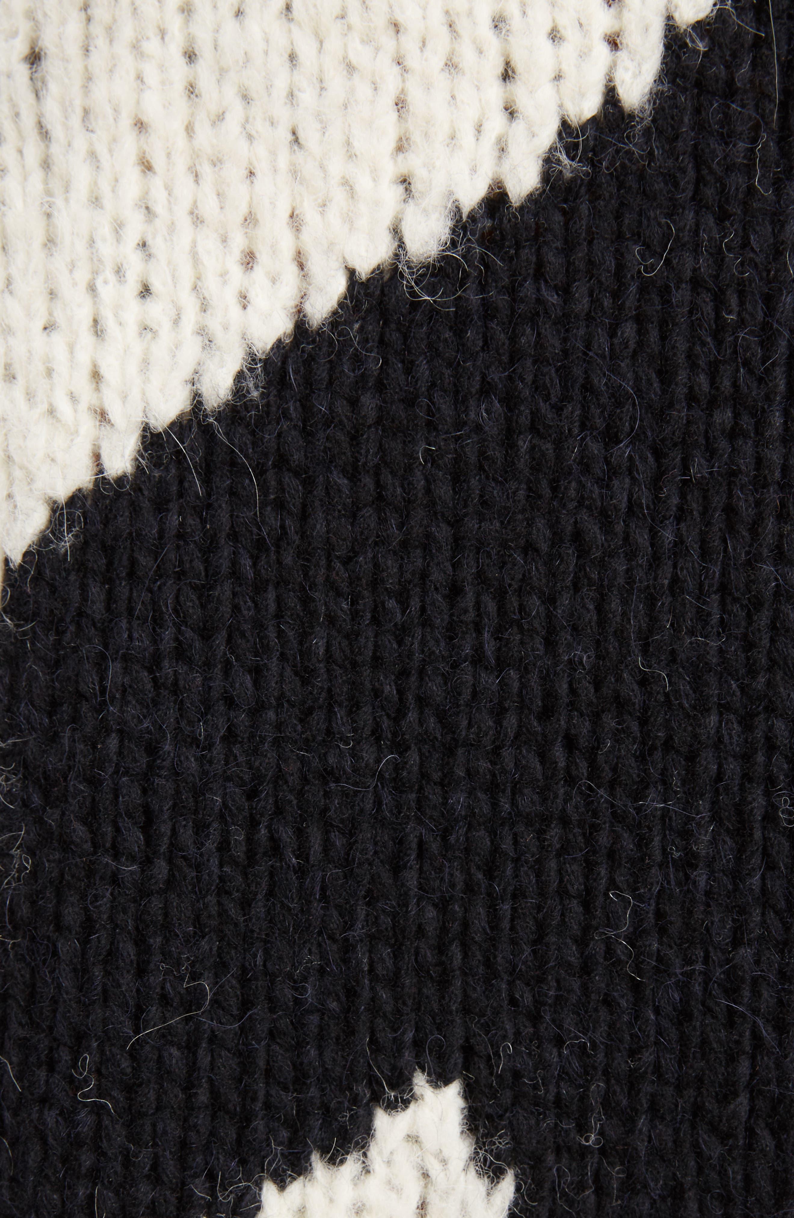 Geo Intarsia Wool Blend Sweater,                             Alternate thumbnail 5, color,                             900