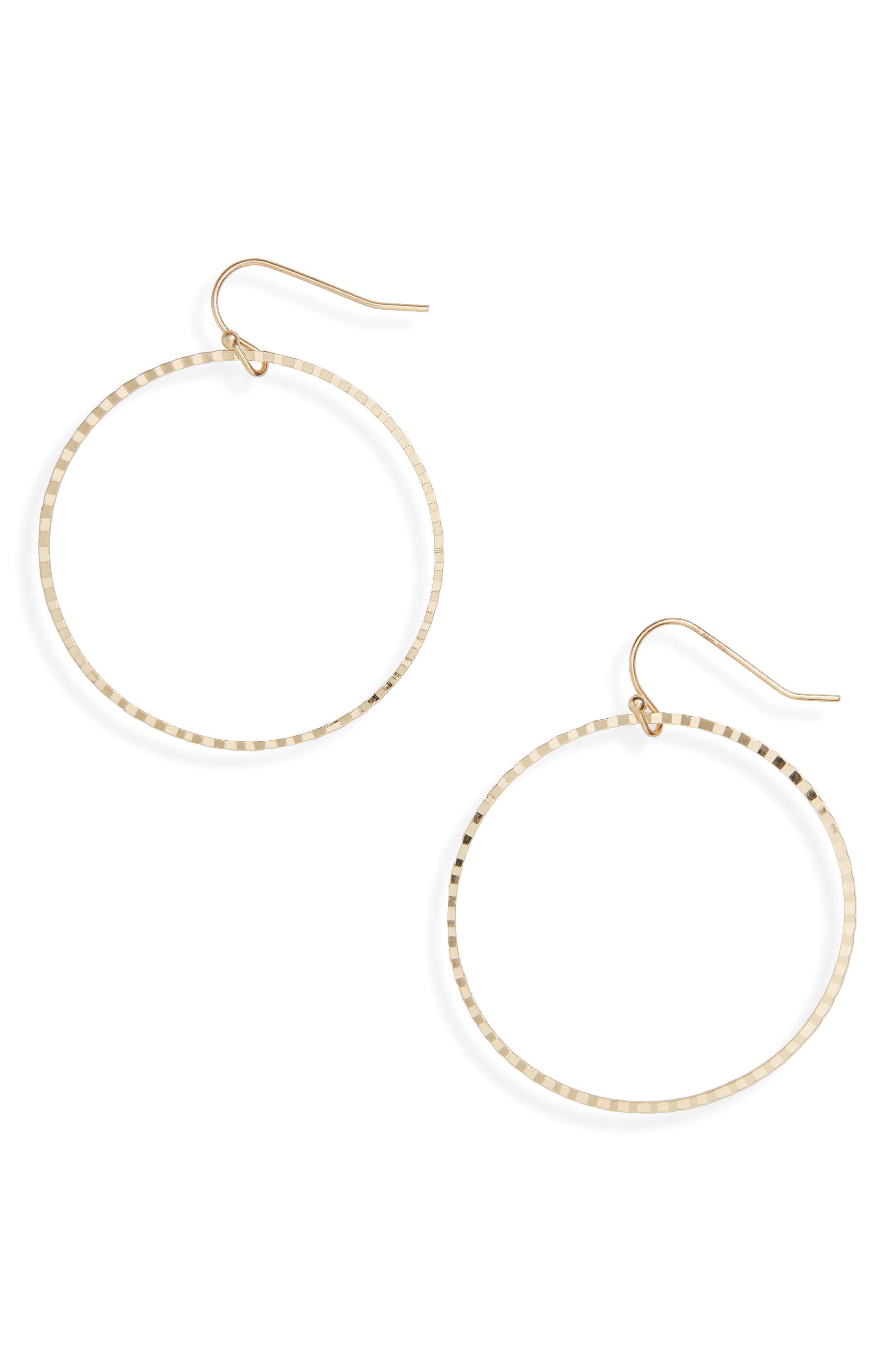 Textured Hoop Earrings,                             Main thumbnail 1, color,                             710