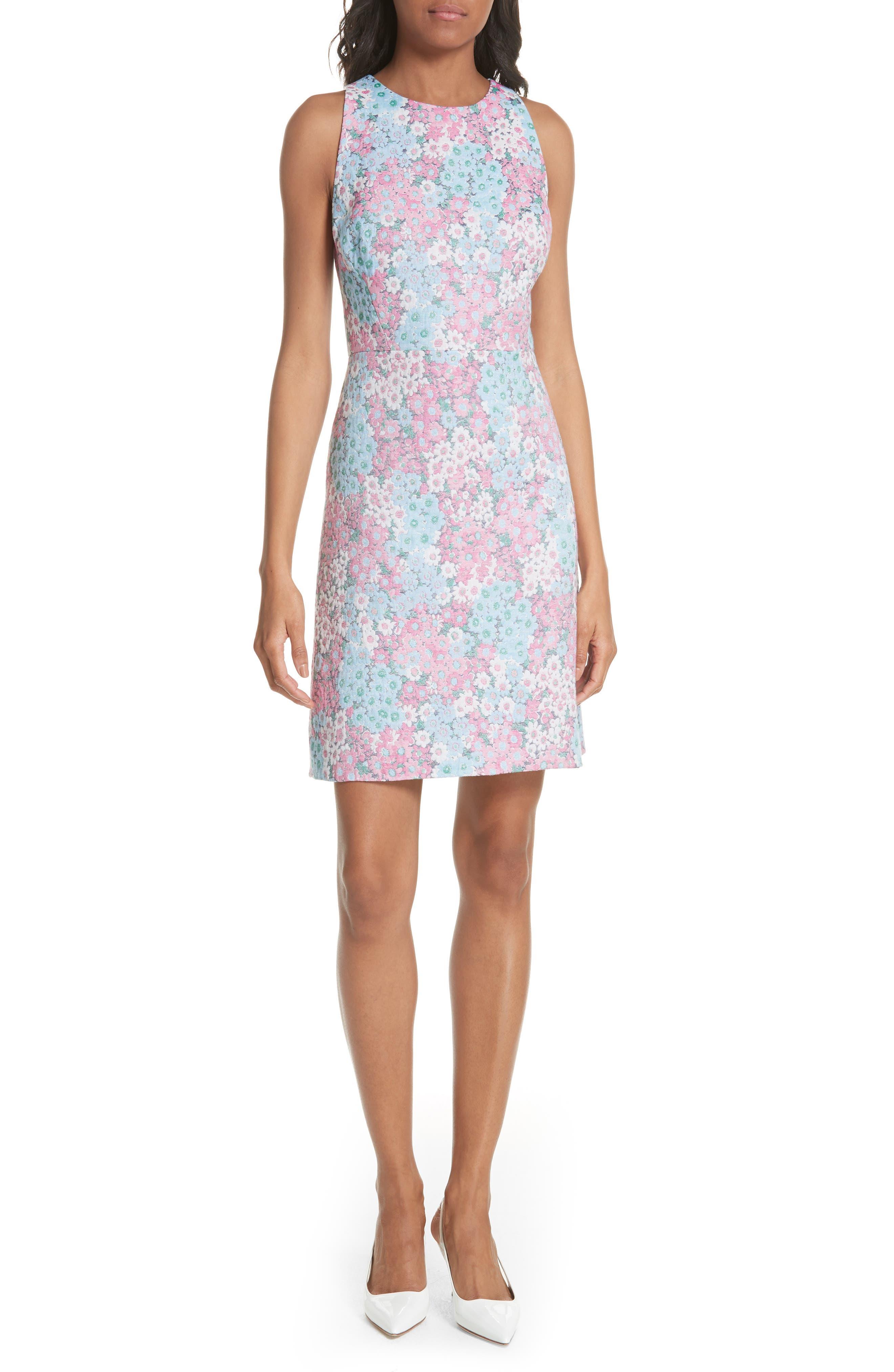 jacquard a-line dress,                             Main thumbnail 1, color,                             474