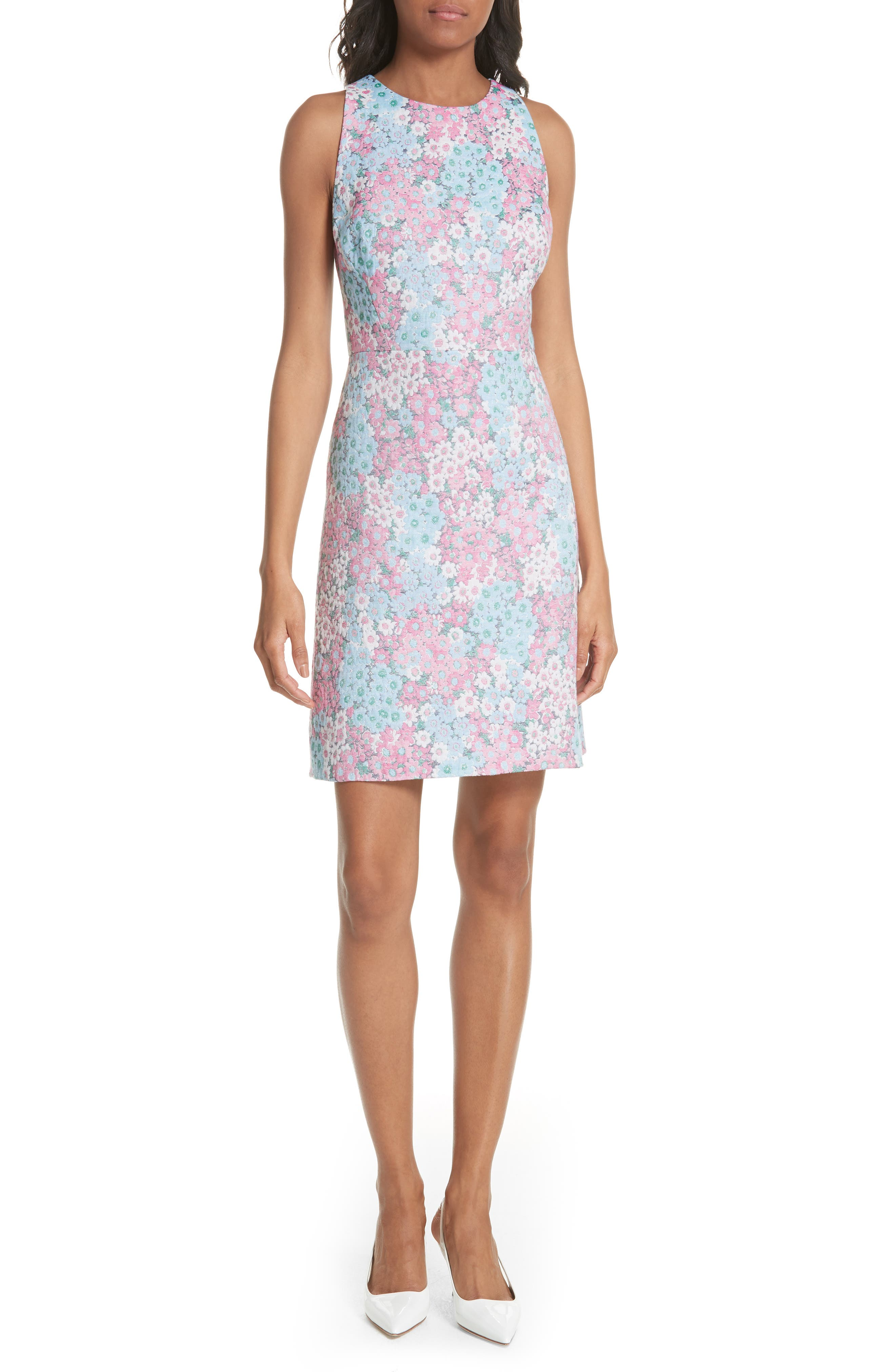 jacquard a-line dress,                         Main,                         color, 474
