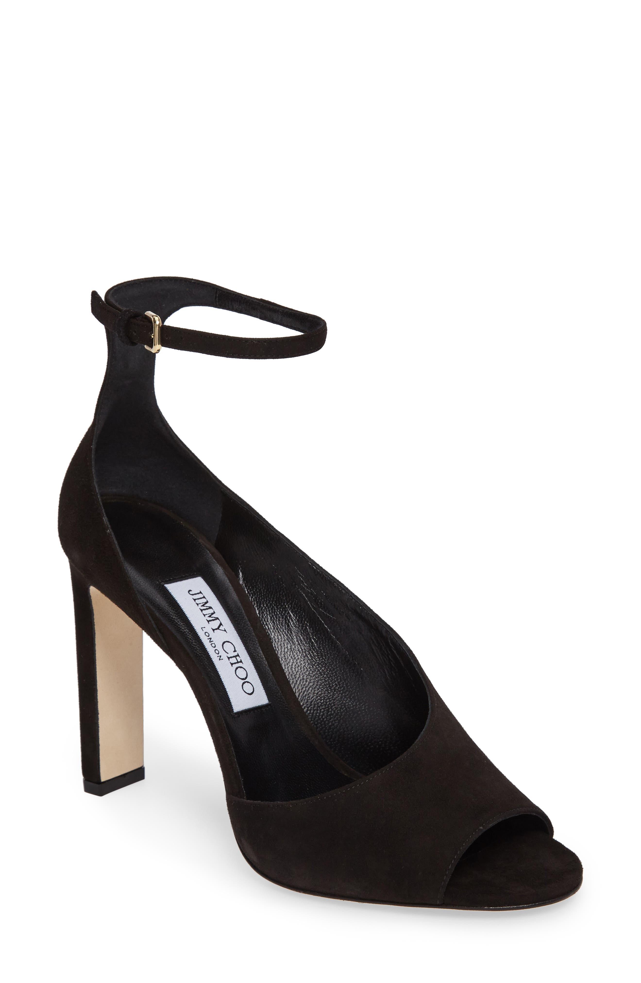 Theresa Ankle Strap Sandal,                             Main thumbnail 1, color,                             001