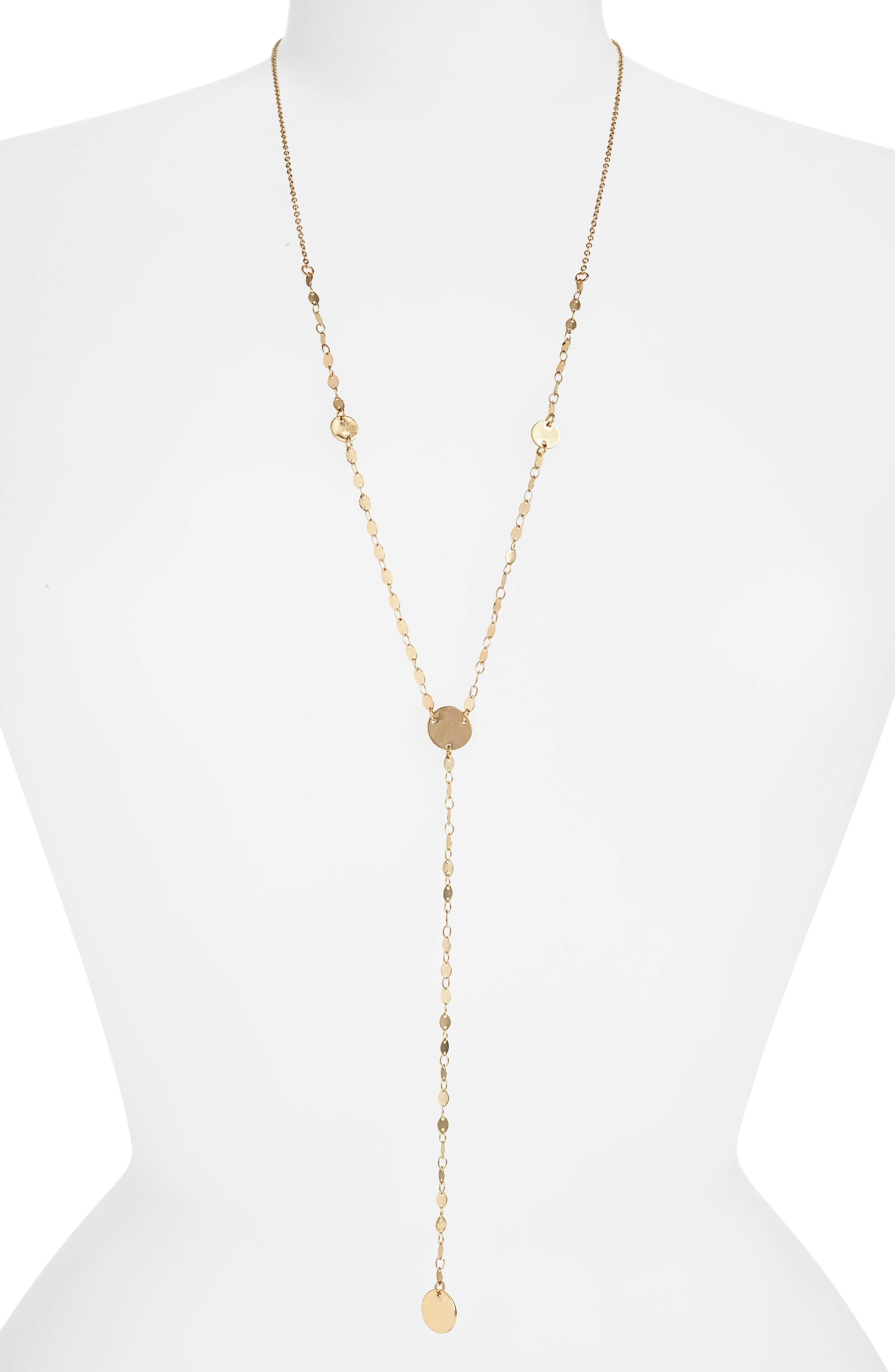 PANACEA Discs Y Necklace in Gold