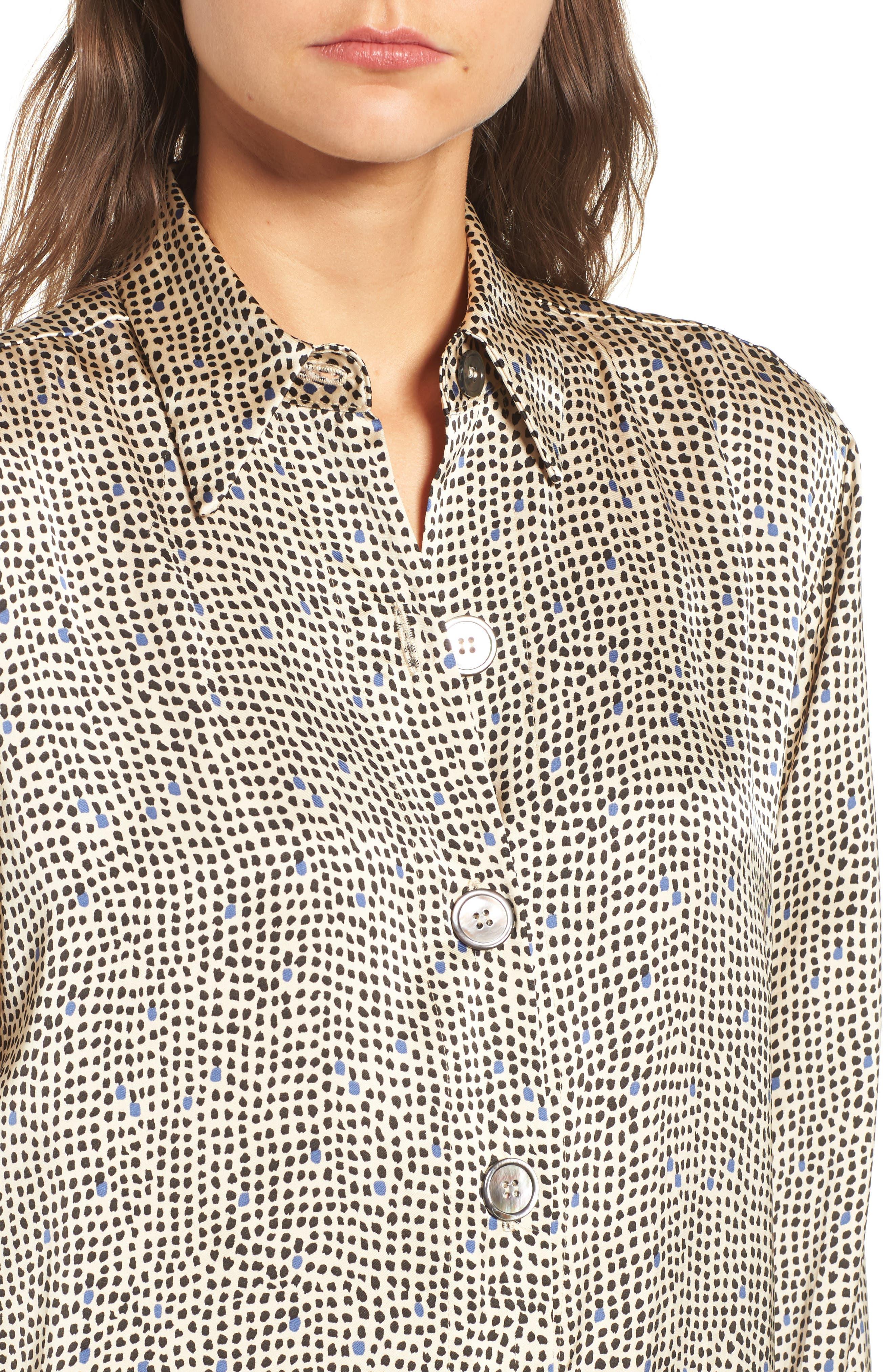 Mini Spot Shirt,                             Alternate thumbnail 4, color,                             251