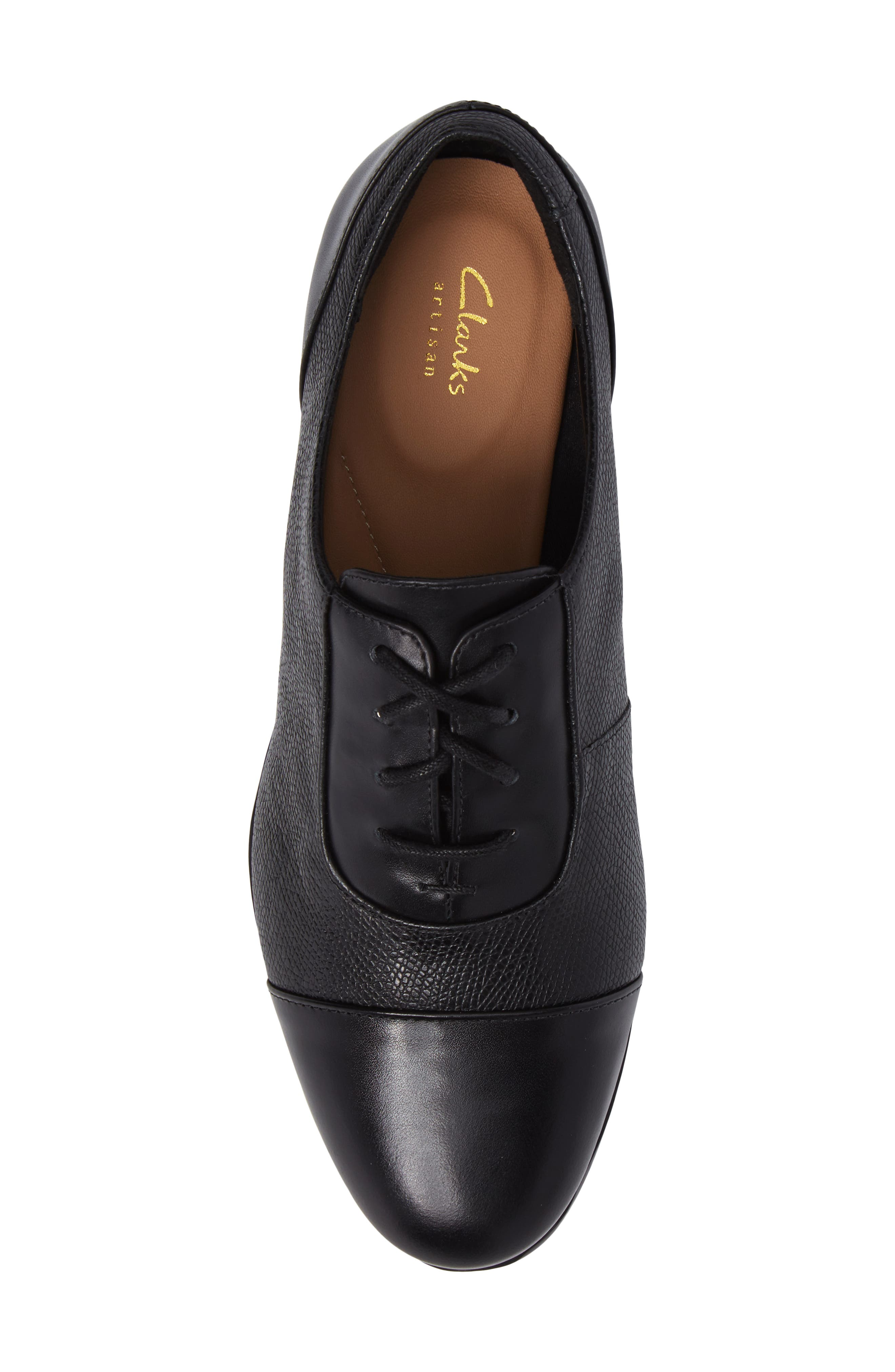 Tilmont Ivy Oxford,                             Alternate thumbnail 5, color,                             BLACK LEATHER