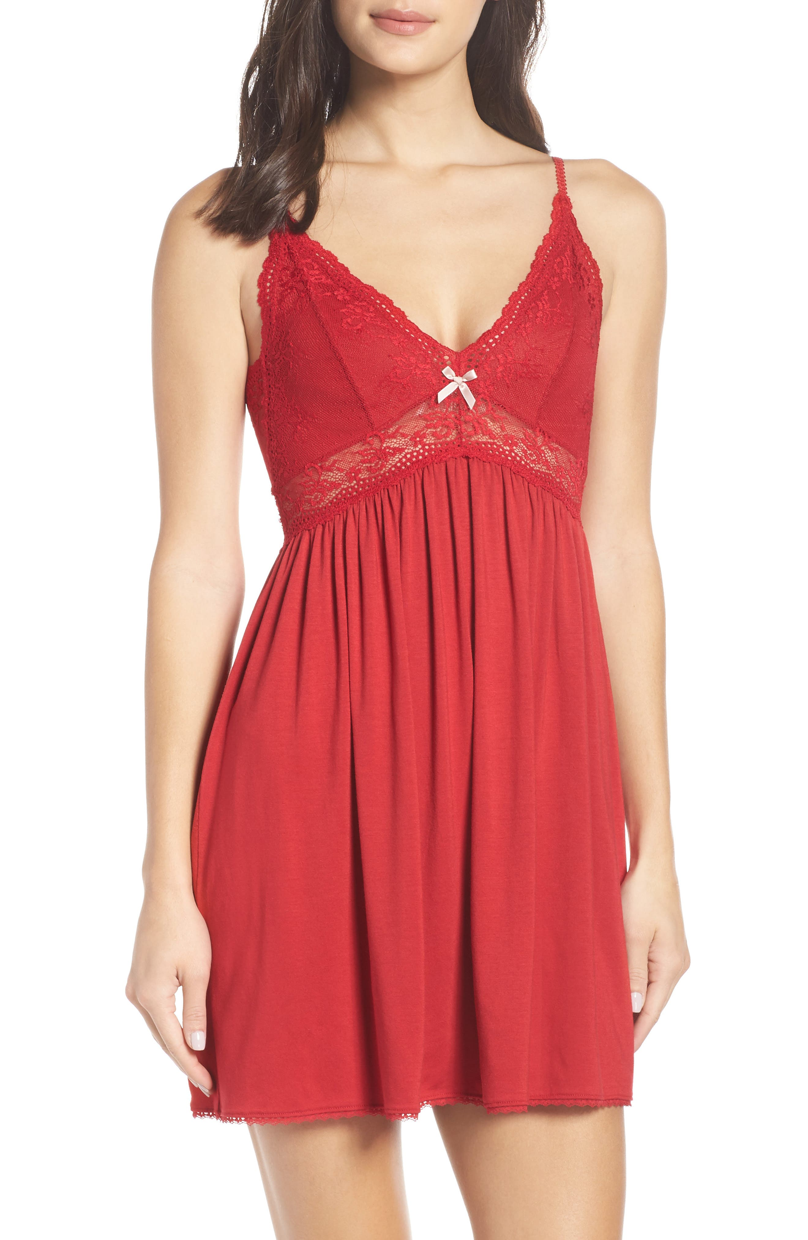 Colette The Mademoiselle Jersey Chemise in Red