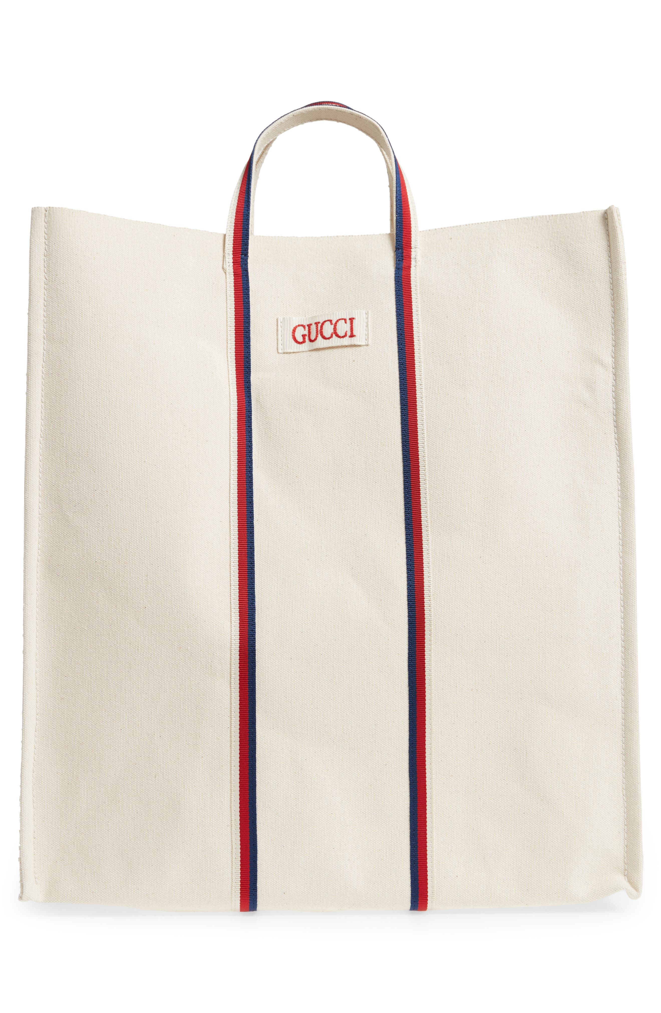 GG Supreme Canvas Tote Bag,                             Alternate thumbnail 3, color,                             IVORY