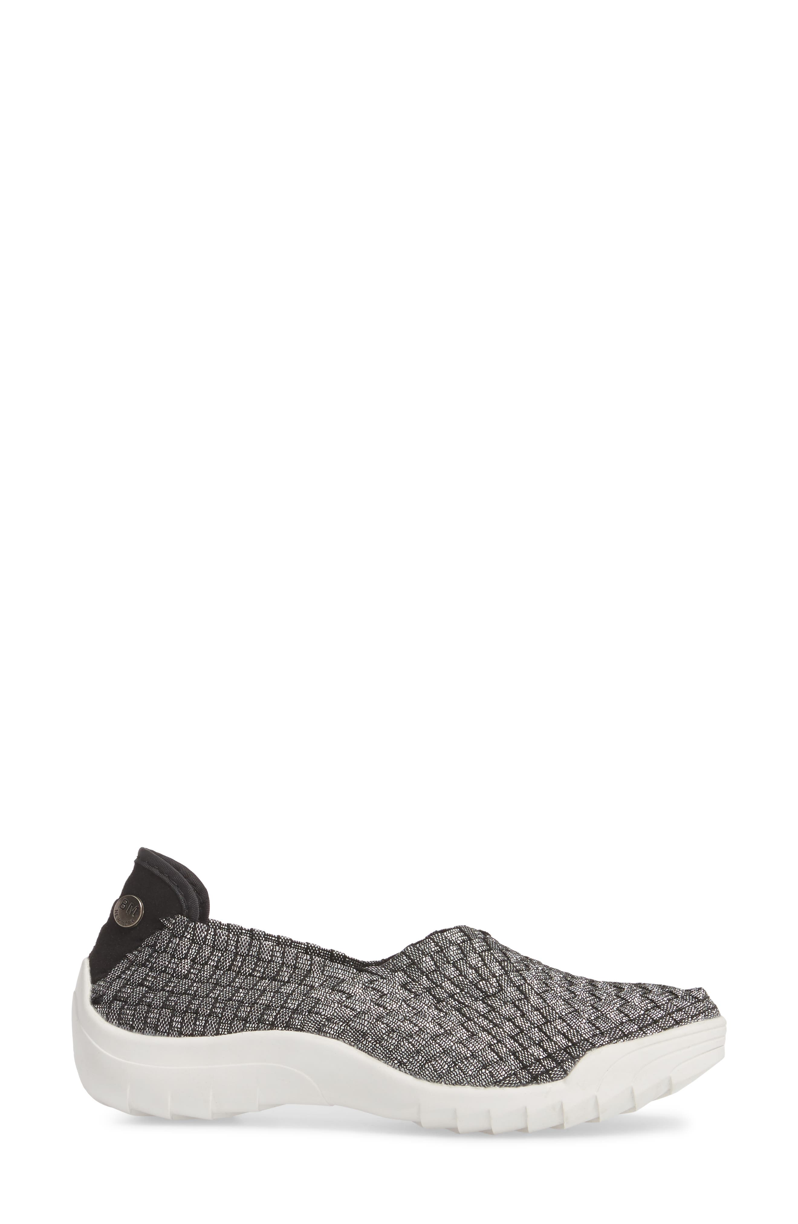 Rigged Fly Slip-On Sneaker,                             Alternate thumbnail 3, color,                             BLACK SHIMMER