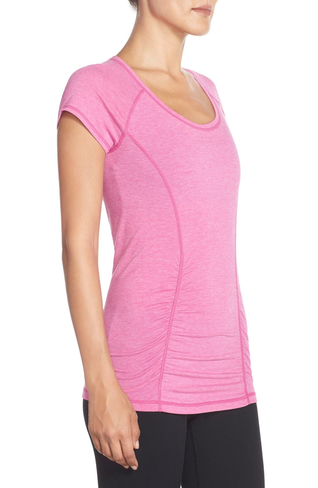 'Z 6' Ruched Tee,                             Alternate thumbnail 61, color,