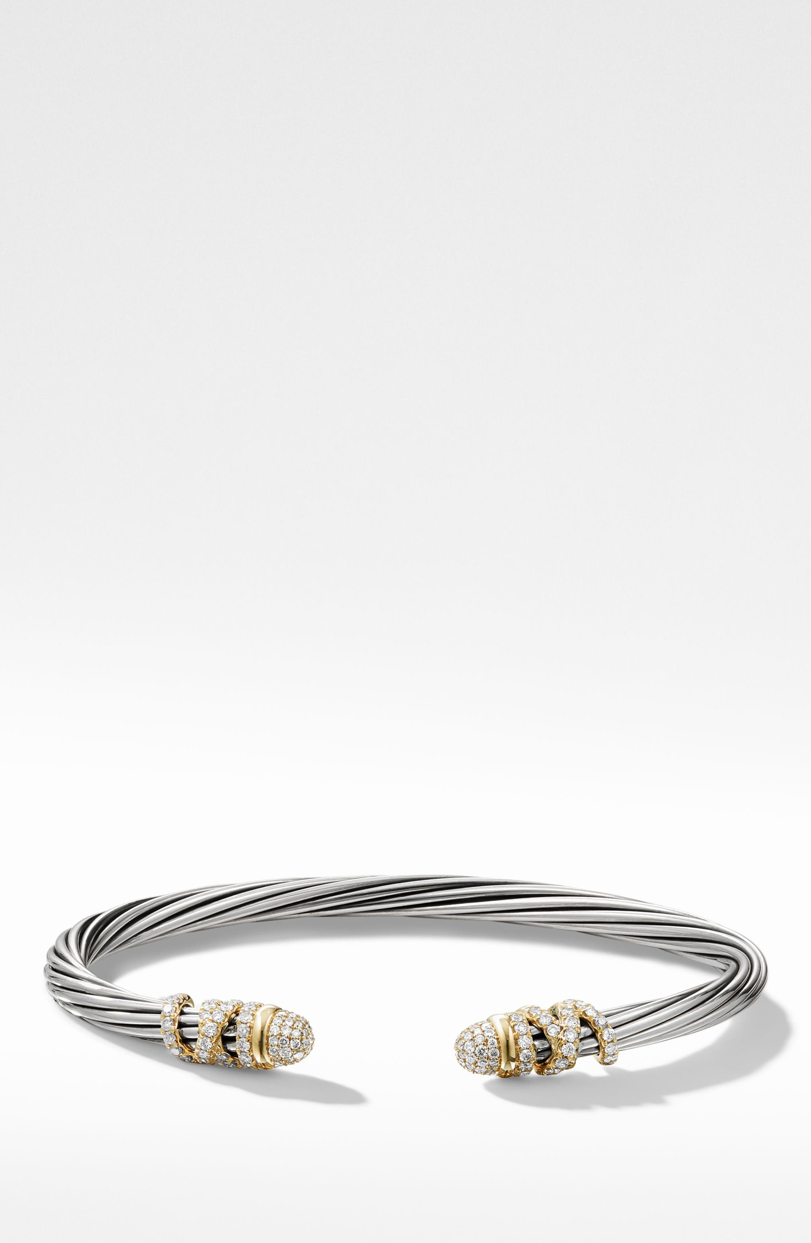 Helena Bracelet with Diamonds,                             Main thumbnail 1, color,                             GOLD/ SILVER/ DIAMOND