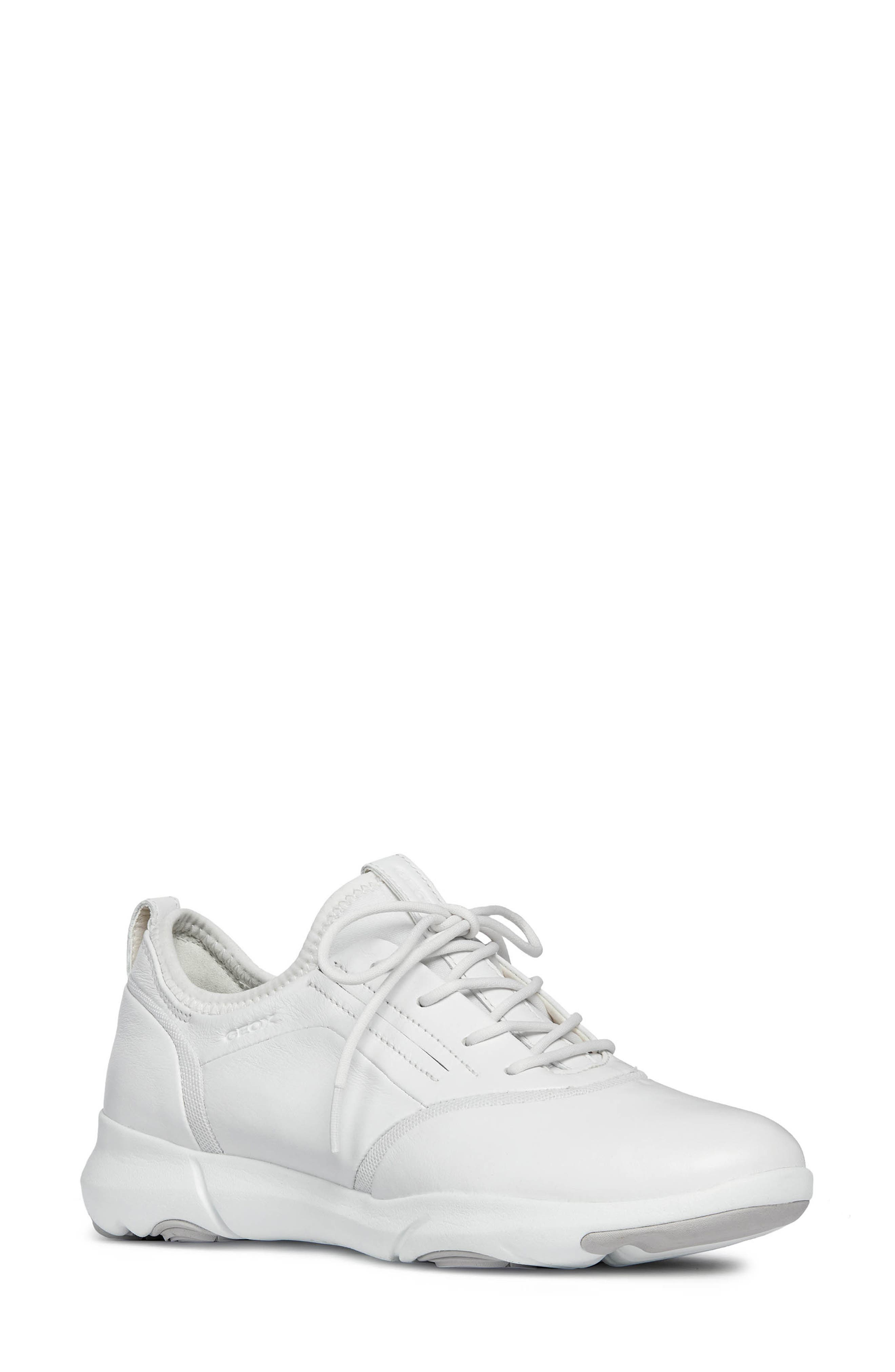 Nebula S 2 Low Top Sneaker,                         Main,                         color, WHITE LEATHER