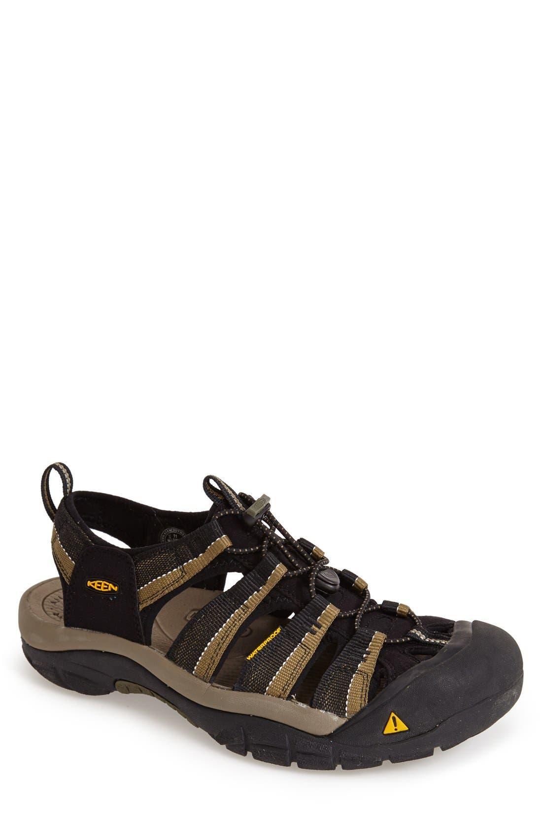 'Newport H2' Sandal,                         Main,                         color, BLACK/ STONE GREY