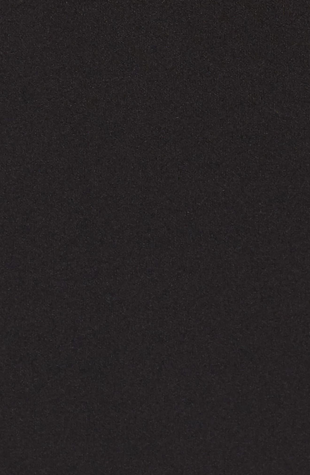 Lace Illusion Ruffle Jumpsuit,                             Alternate thumbnail 5, color,                             BLACK