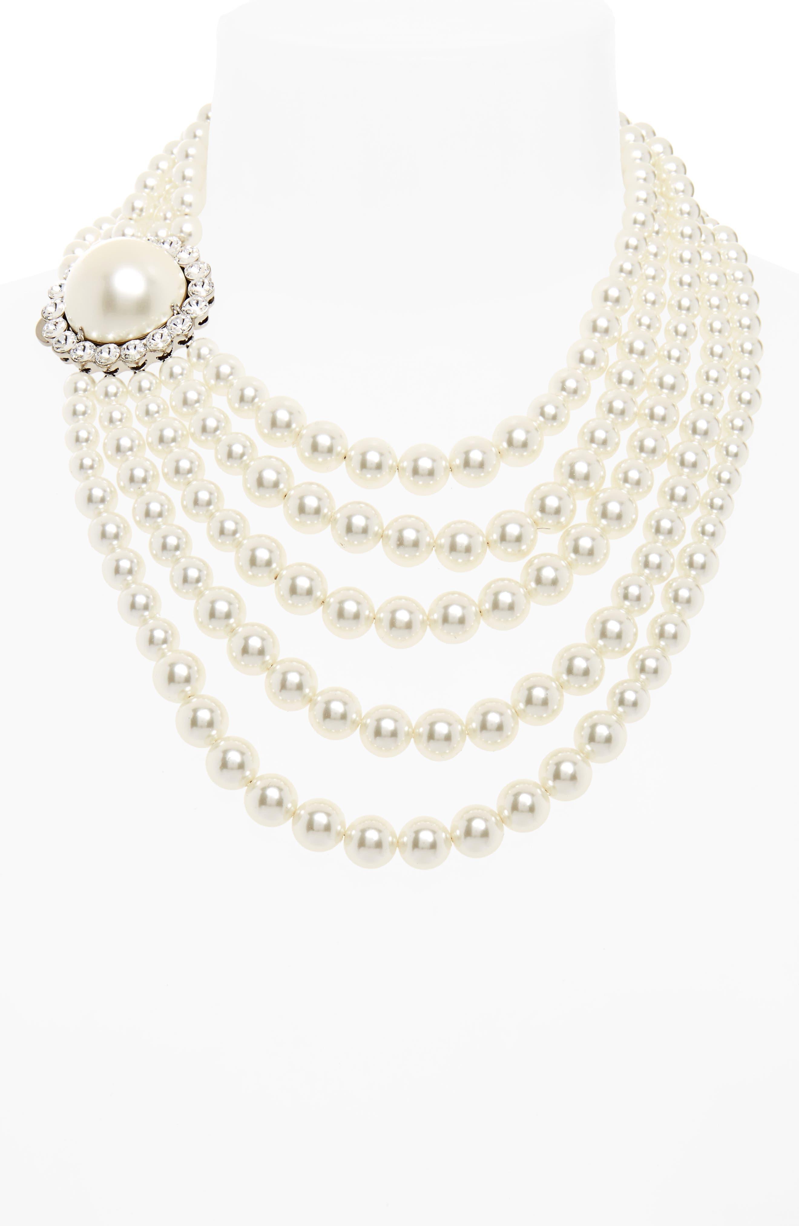 Multistrand Imitation Pearl Necklace,                             Alternate thumbnail 2, color,                             904