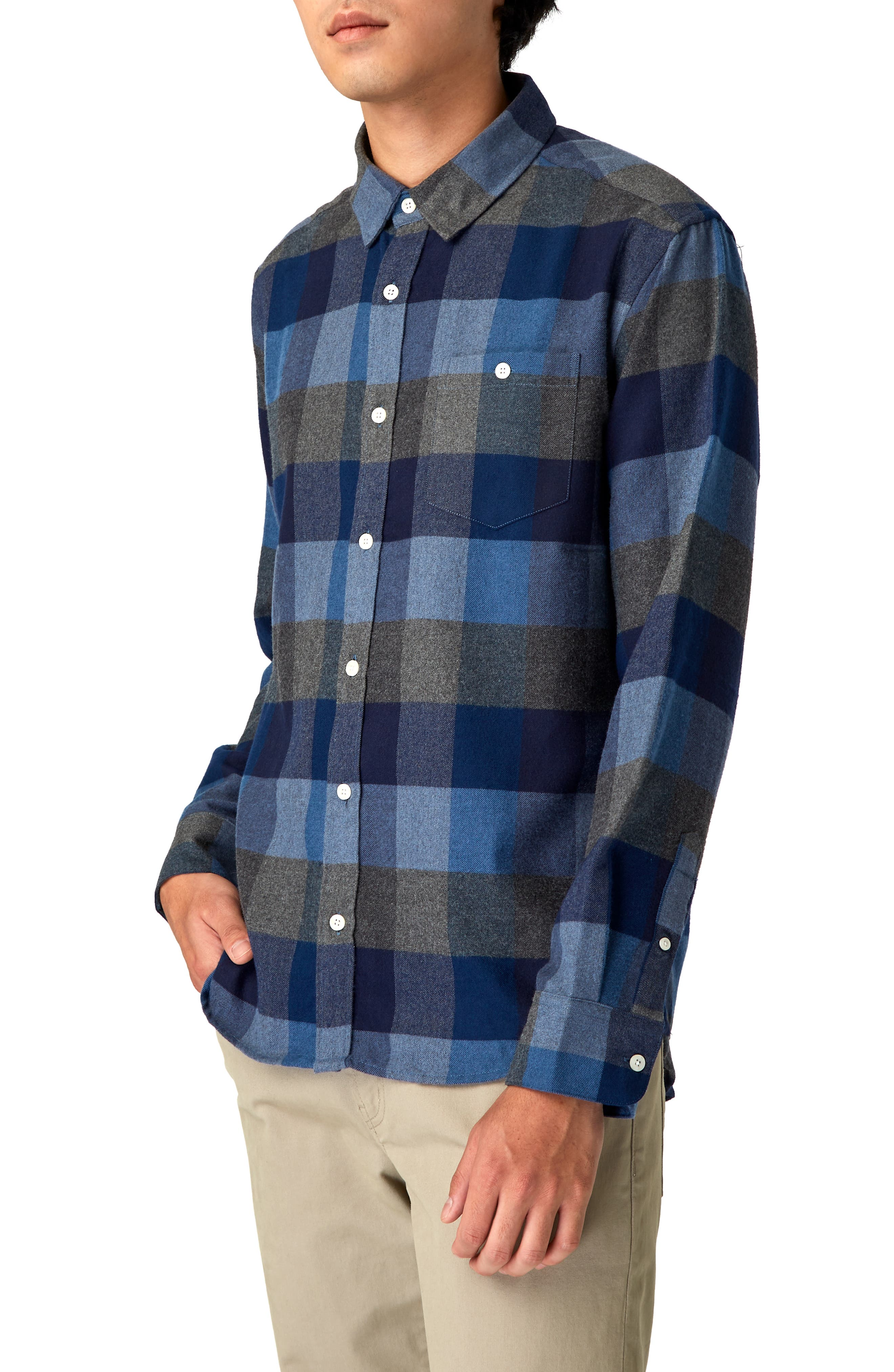 Cypress Check Sport Shirt,                             Alternate thumbnail 4, color,                             410