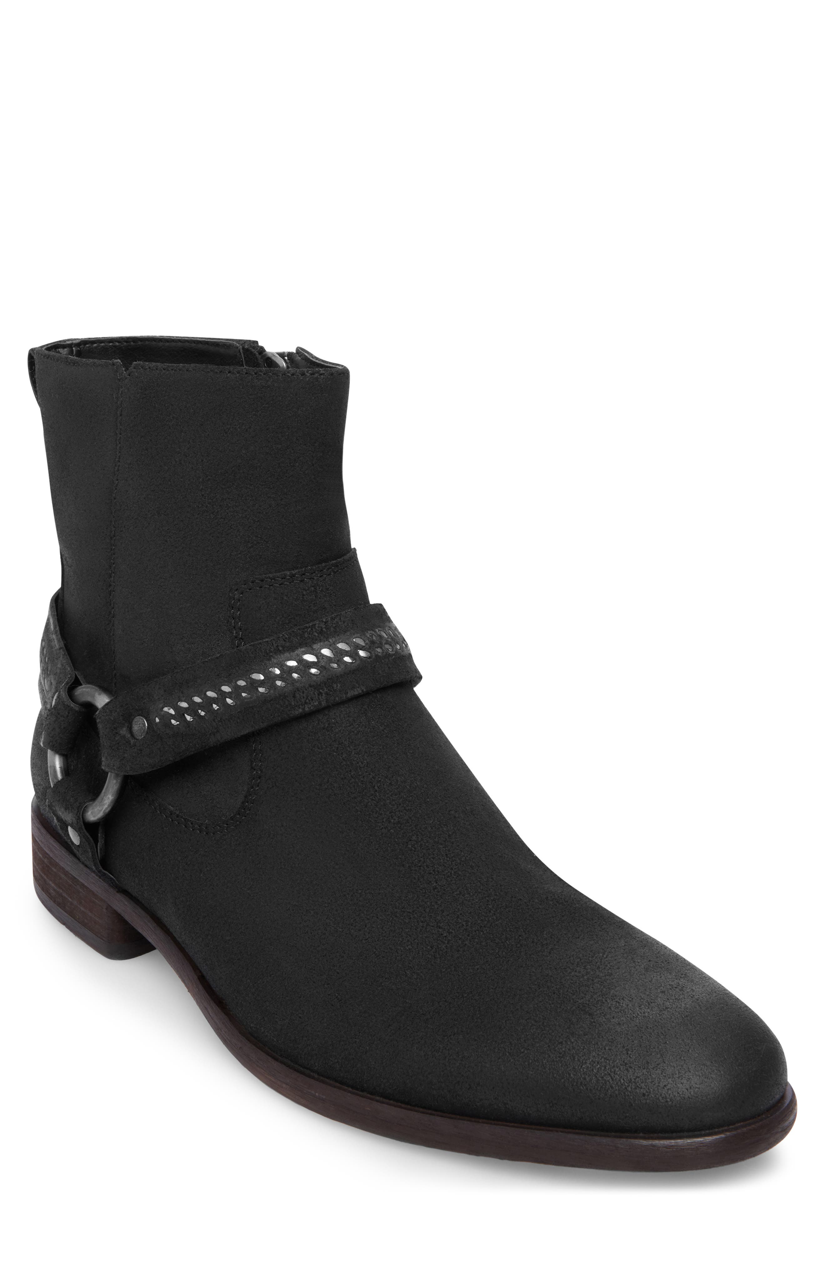 Vancet Engineer Boot,                             Main thumbnail 1, color,                             BLACK LEATHER