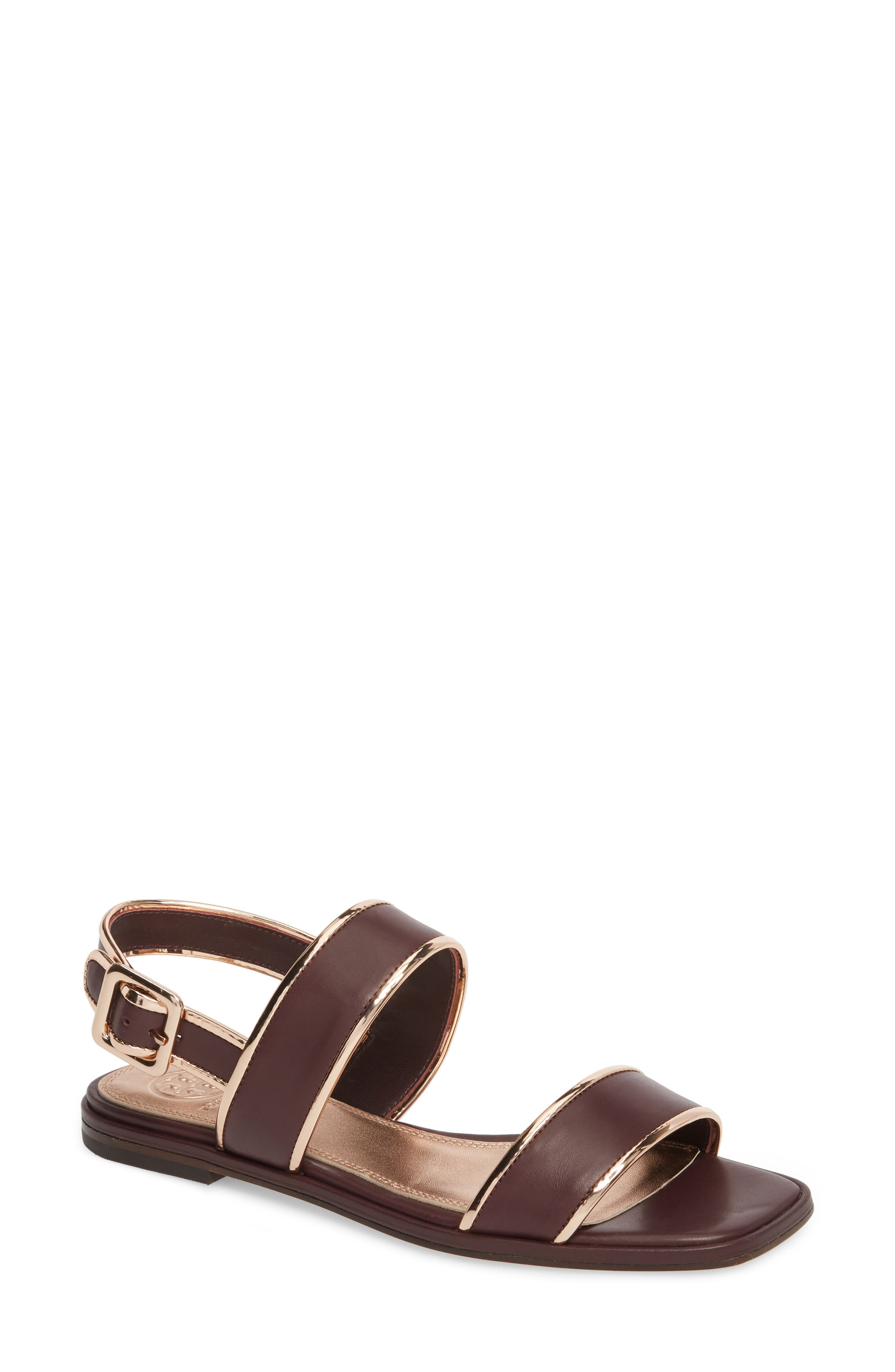 Delaney Double Strap Sandal,                             Main thumbnail 4, color,