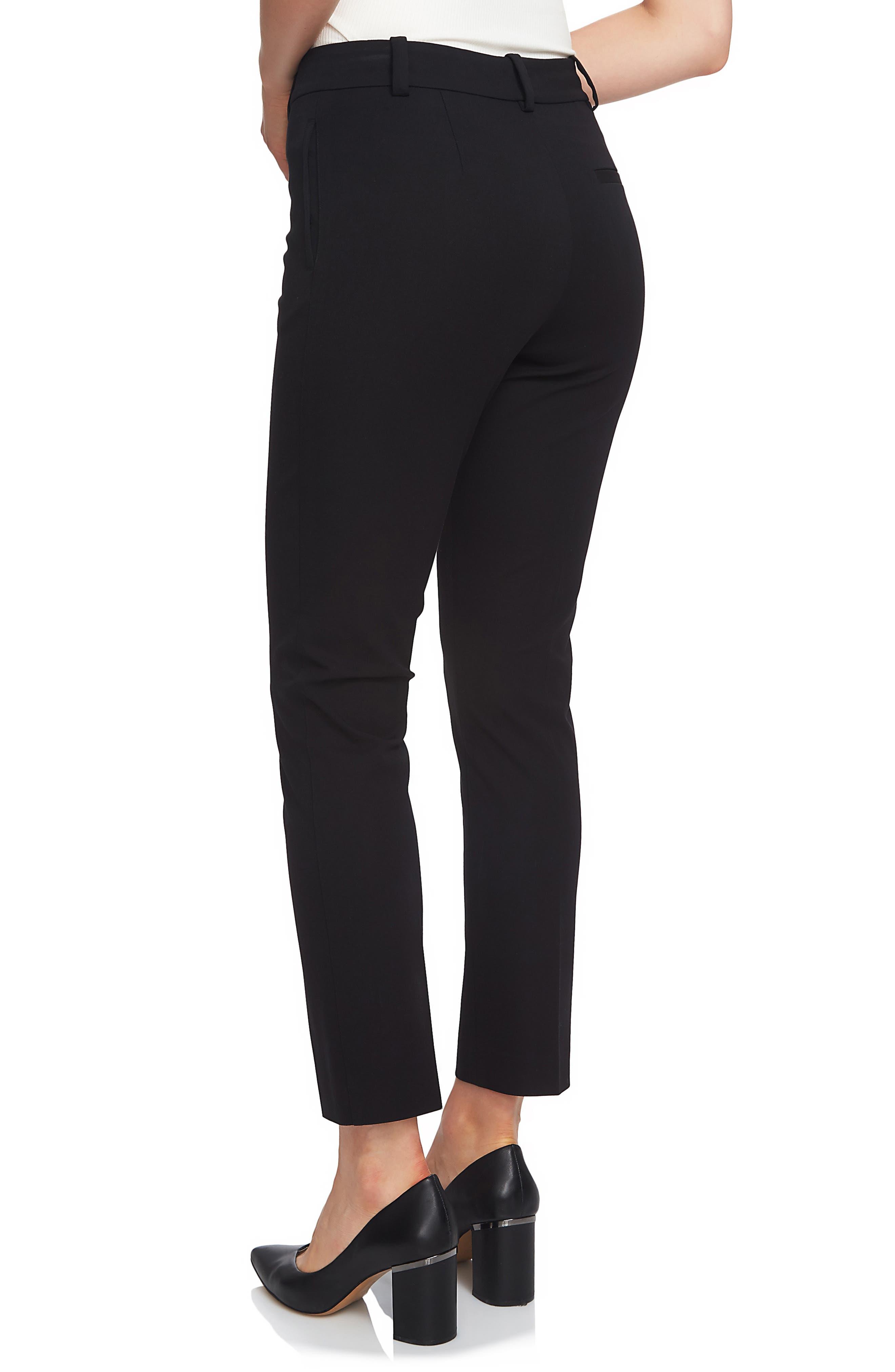 Stretch Twill Slim Ankle Pants,                             Alternate thumbnail 2, color,                             RICH BLACK