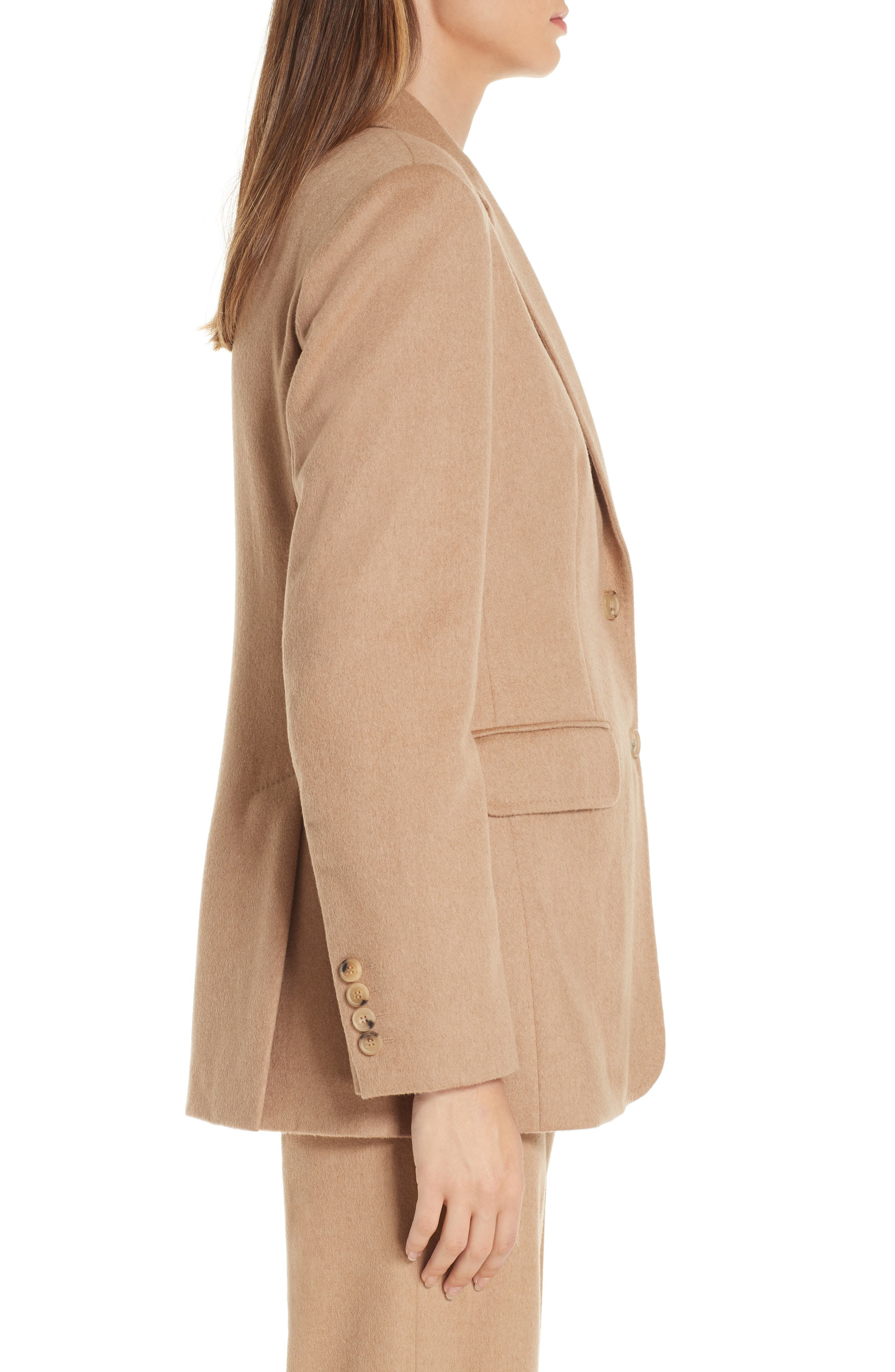 Panteon Camel Hair Jacket,                             Alternate thumbnail 3, color,                             232