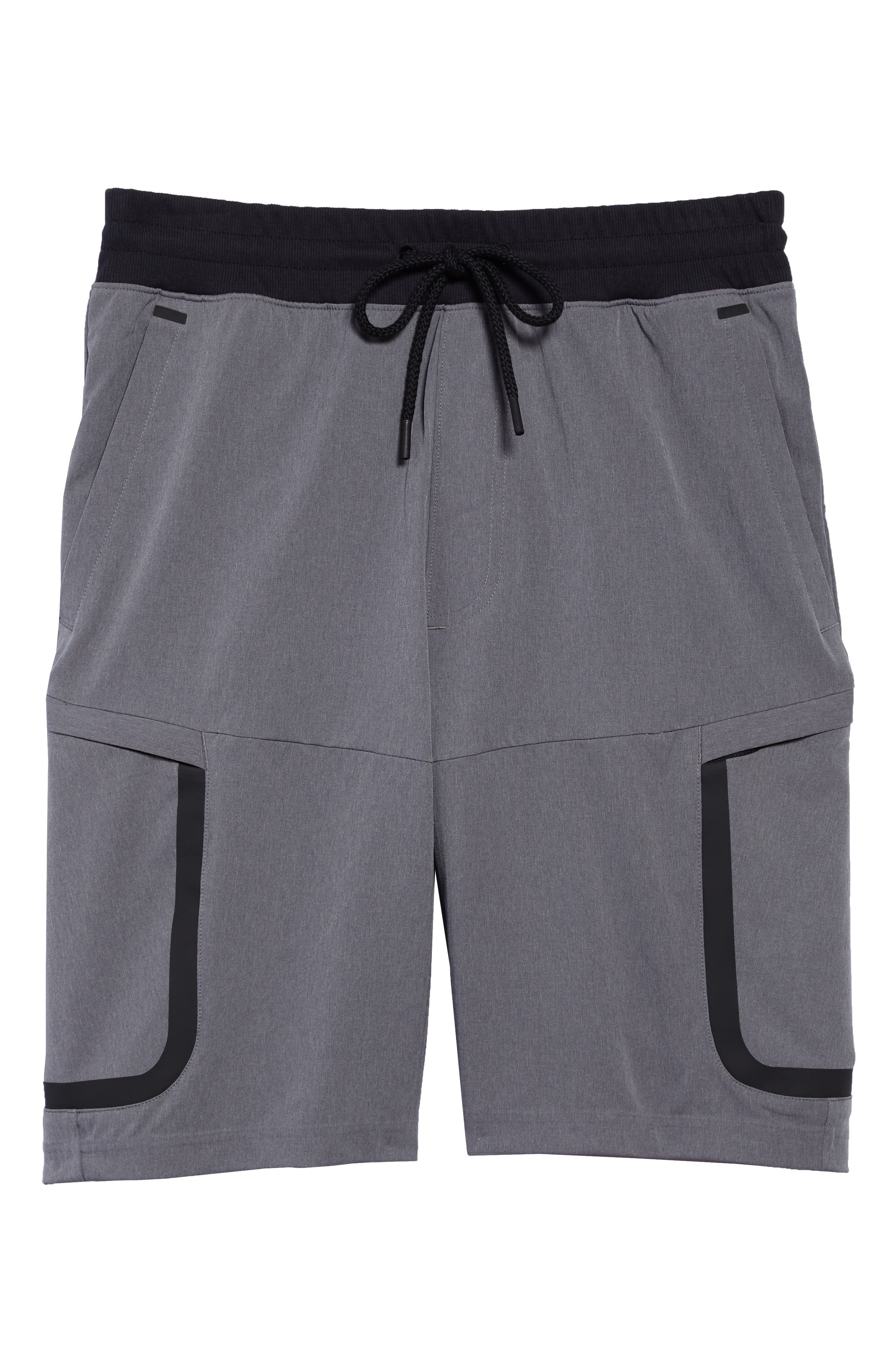 Sportstyle Elite Cargo Shorts,                             Alternate thumbnail 6, color,                             STEEL FULL HEATHER / / BLACK