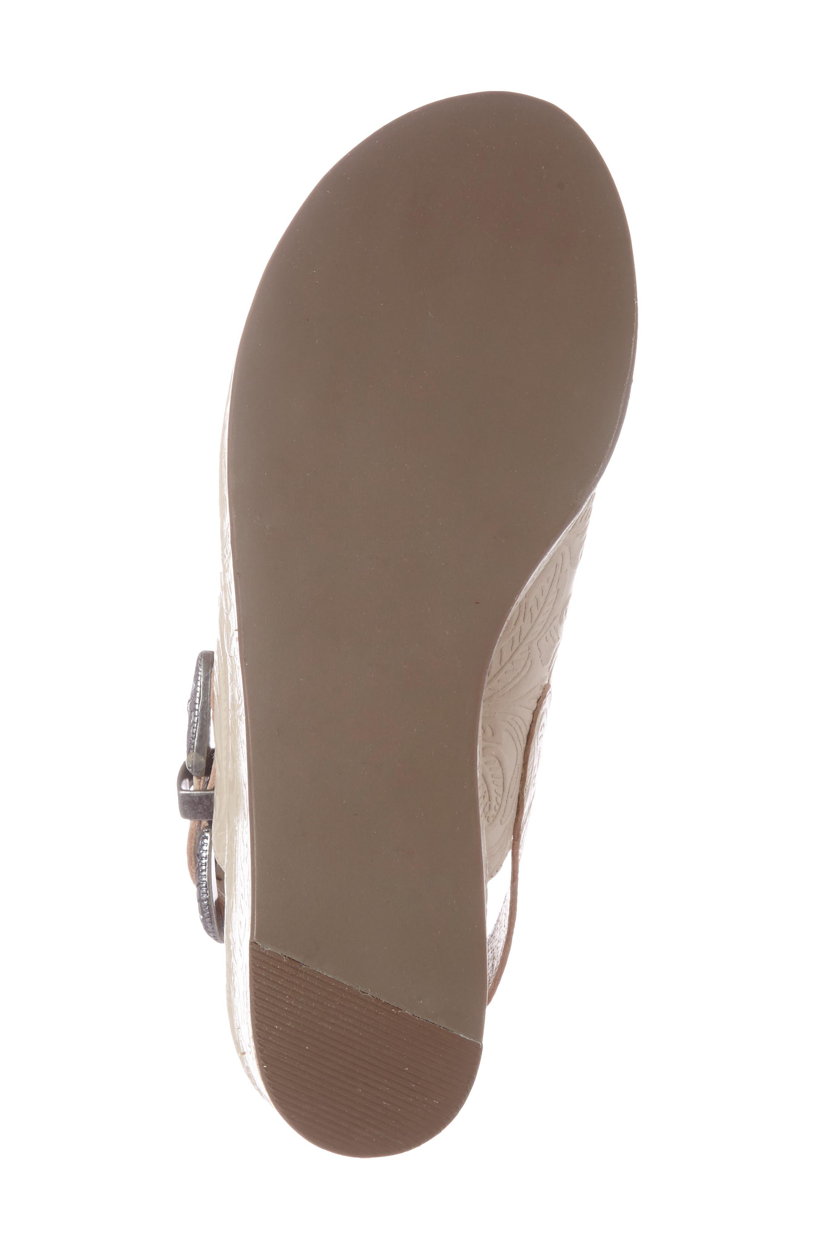 Embossed Slingback Platform Sandal,                             Alternate thumbnail 5, color,                             250