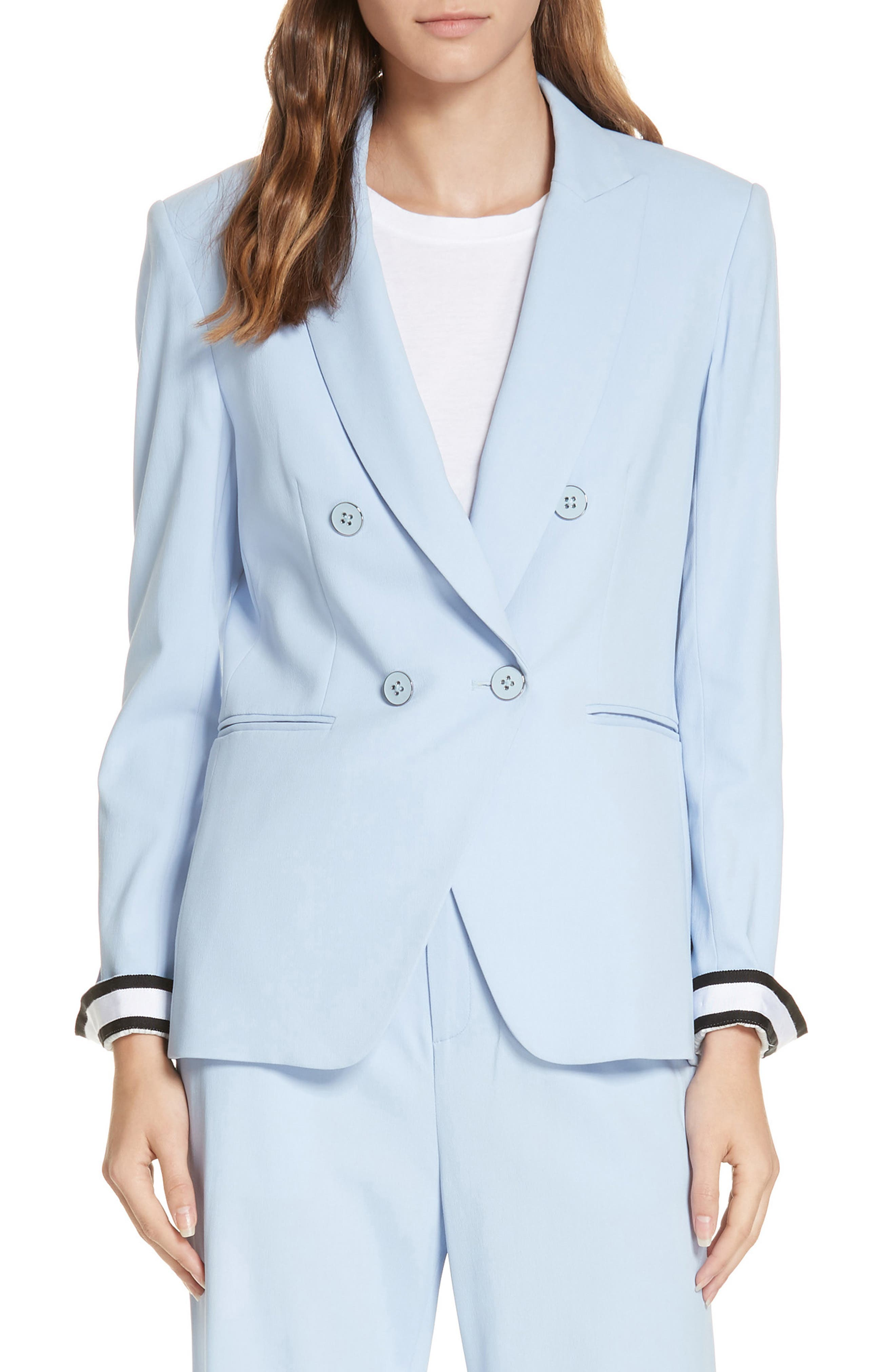 Aros Dickey Jacket,                             Alternate thumbnail 2, color,                             LIGHT BLUE