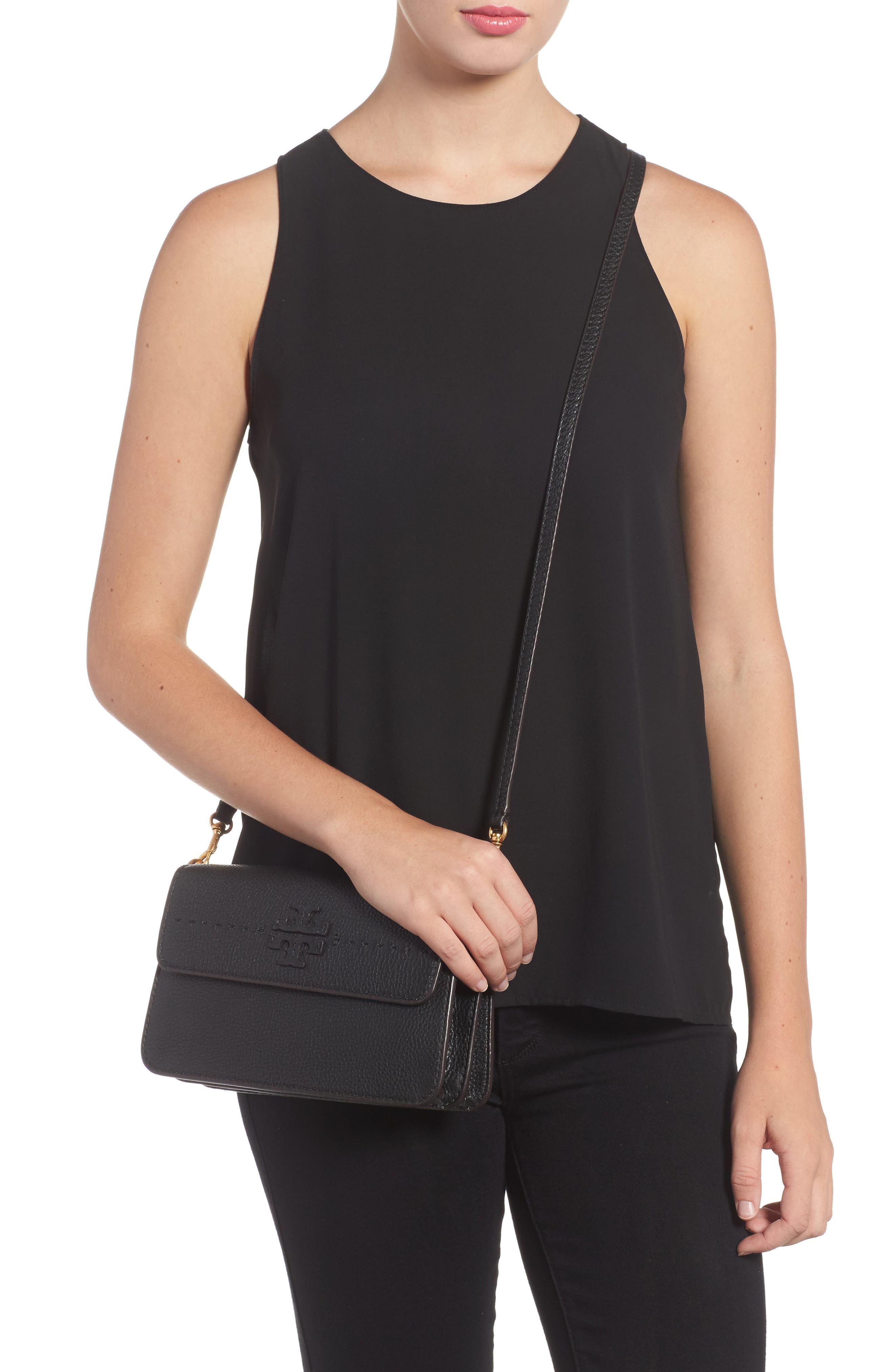 McGraw Leather Shoulder Bag,                             Alternate thumbnail 2, color,                             001