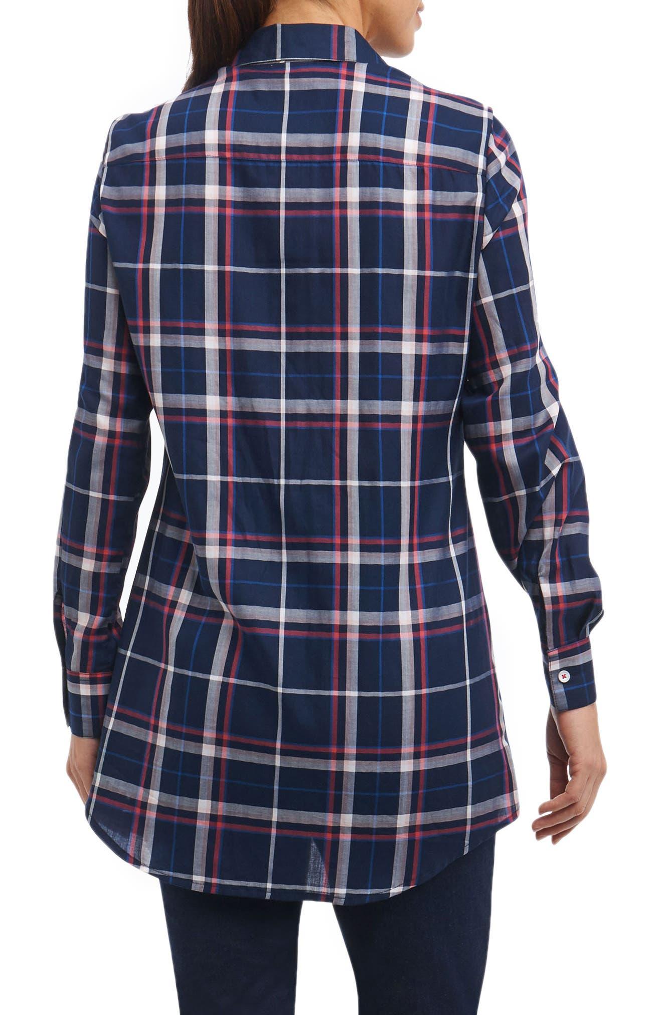 Cici Plaid Shirt,                             Alternate thumbnail 2, color,                             462