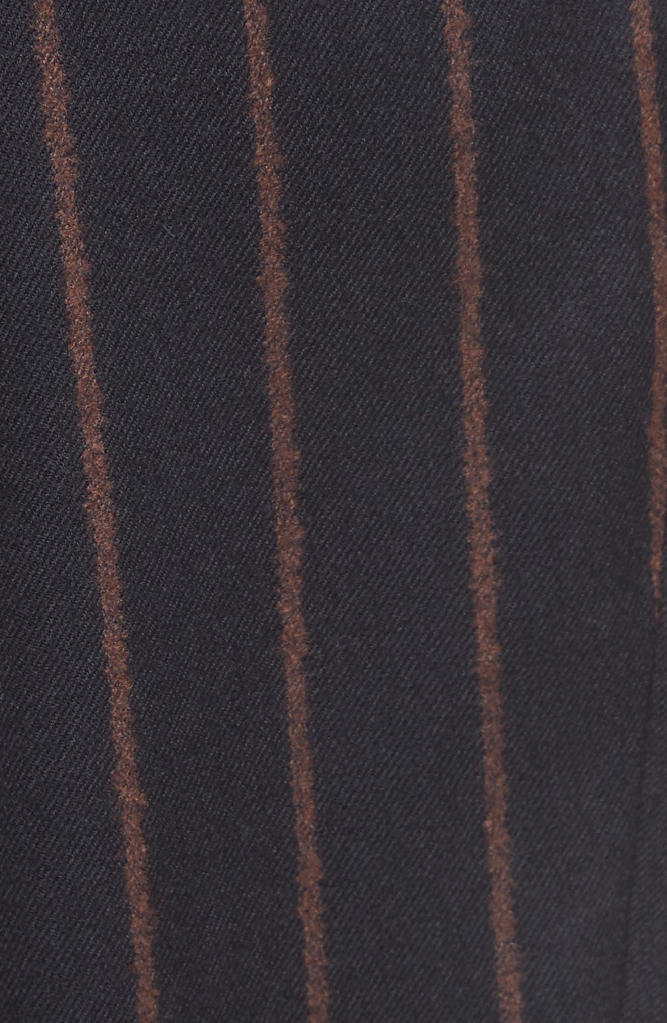 Bouclé Stripe Flannel Pants,                             Alternate thumbnail 5, color,                             400