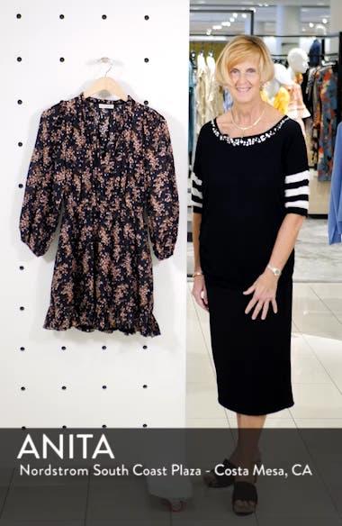Brienne Floral Print Cotton & Silk Minidress, sales video thumbnail