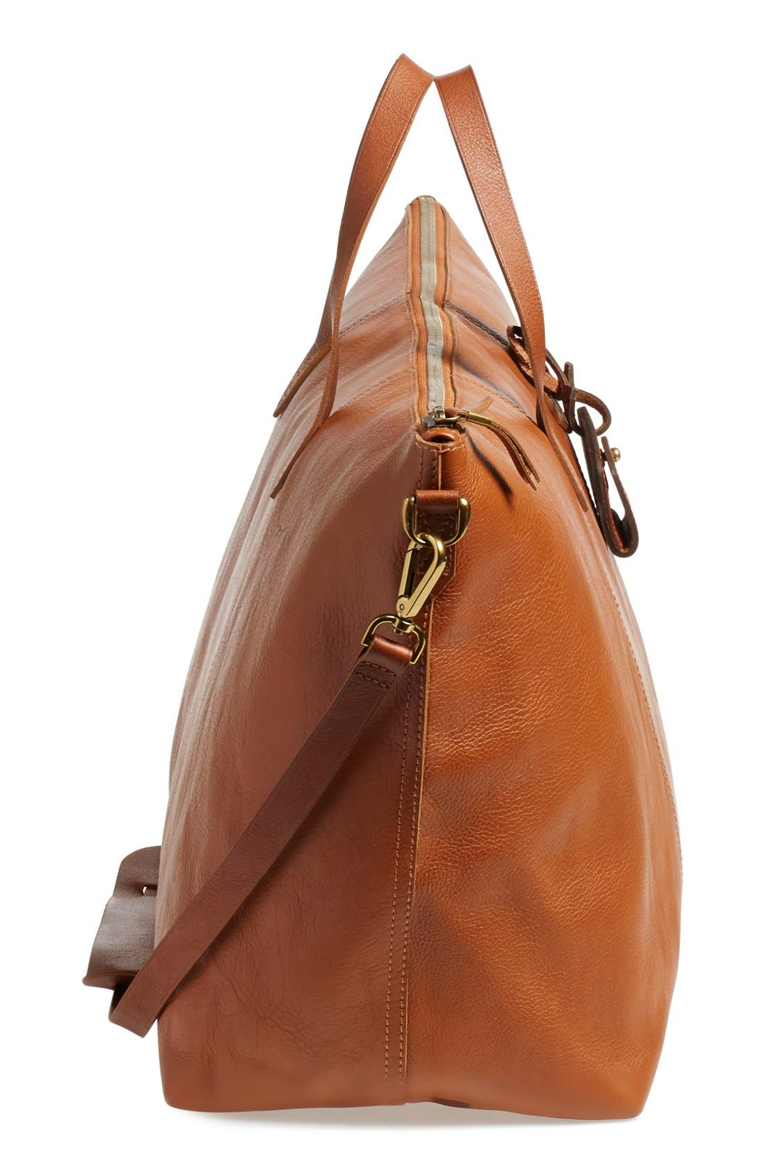 'Transport' Weekend Bag,                             Alternate thumbnail 5, color,                             ENGLISH SADDLE