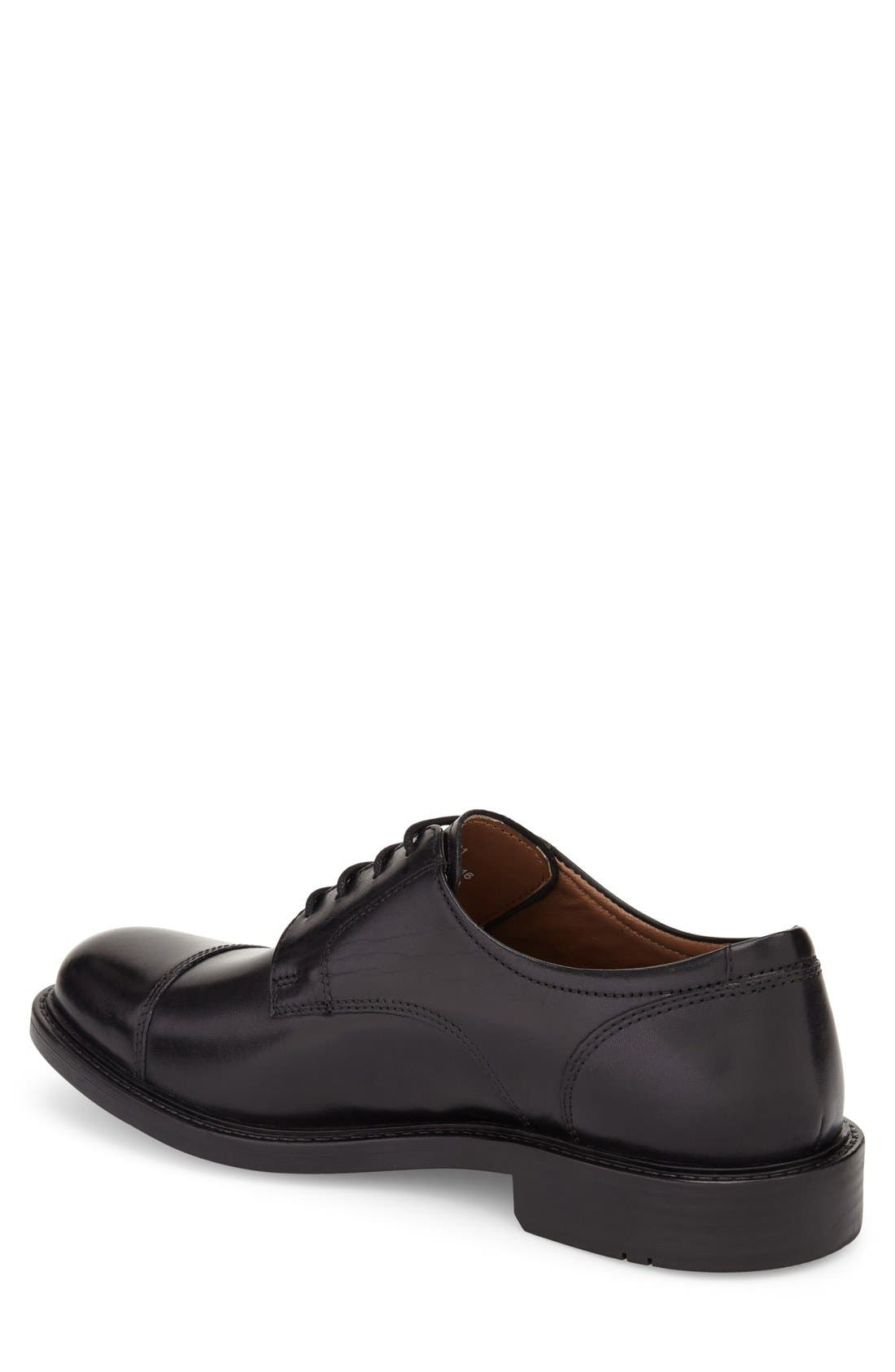 Tabor Cap Toe Derby,                             Alternate thumbnail 3, color,                             BLACK LEATHER