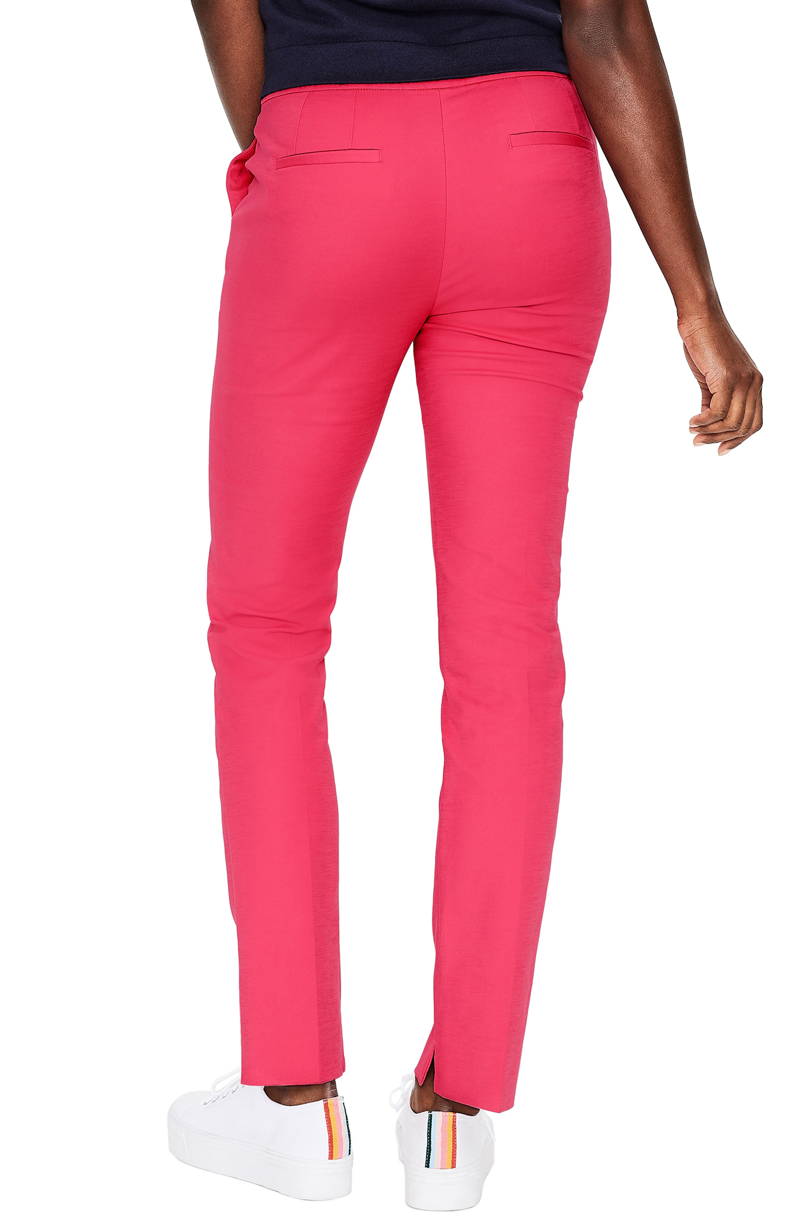 BODEN,                             Richmond Stretch Cotton Trousers,                             Alternate thumbnail 2, color,                             GARDEN ROSE