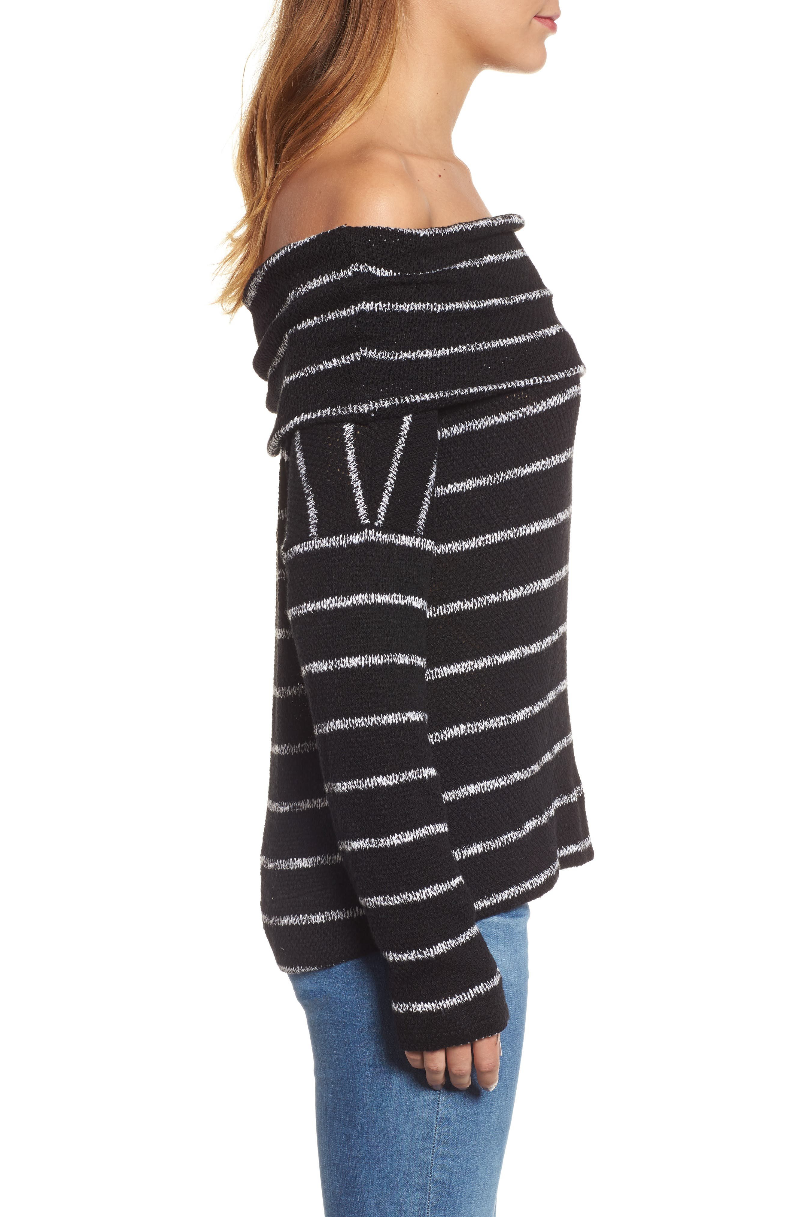 Convertible Off the Shoulder Pullover,                             Alternate thumbnail 3, color,                             002