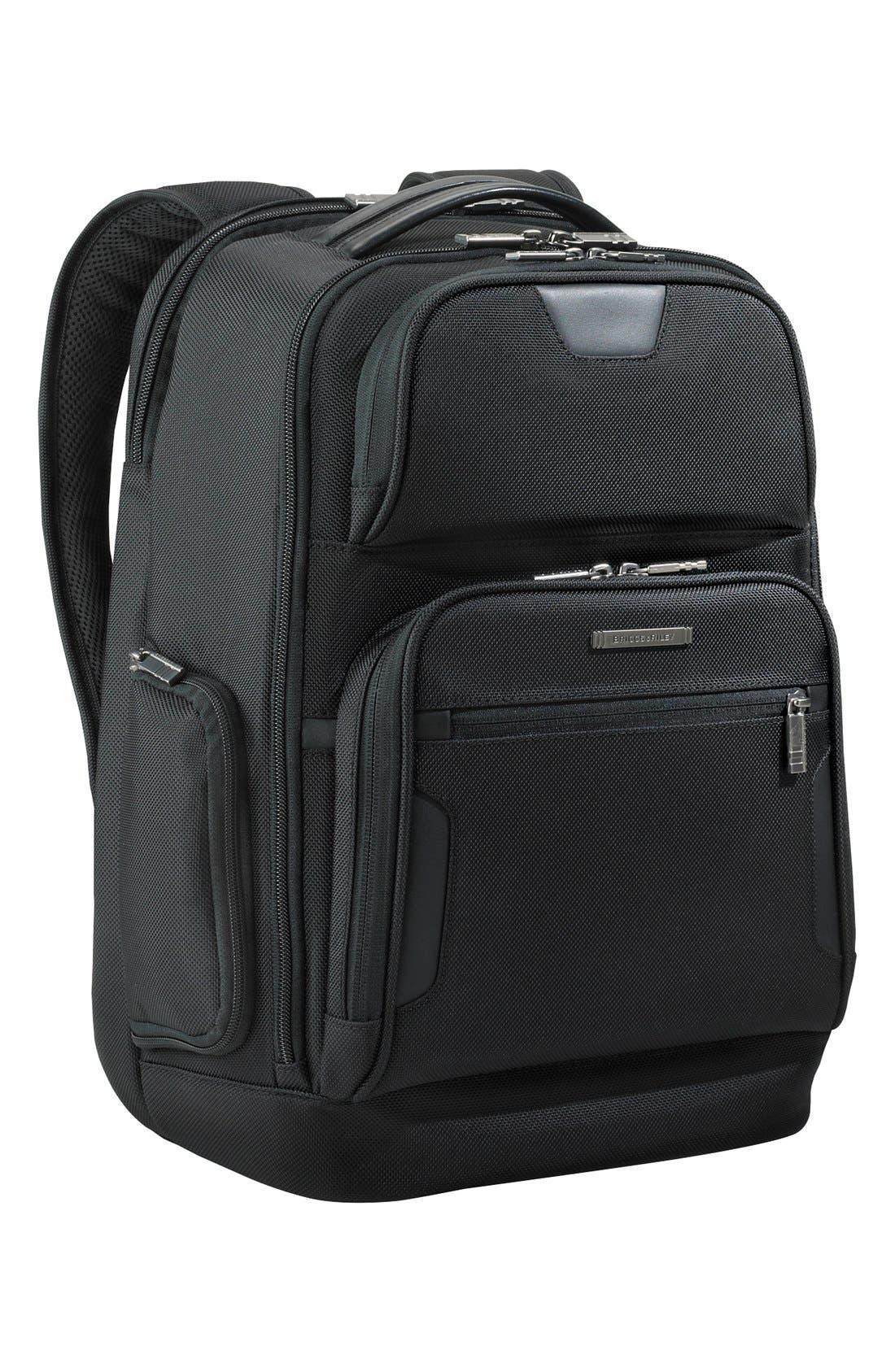 Medium Ballistic Nylon Backpack,                         Main,                         color,